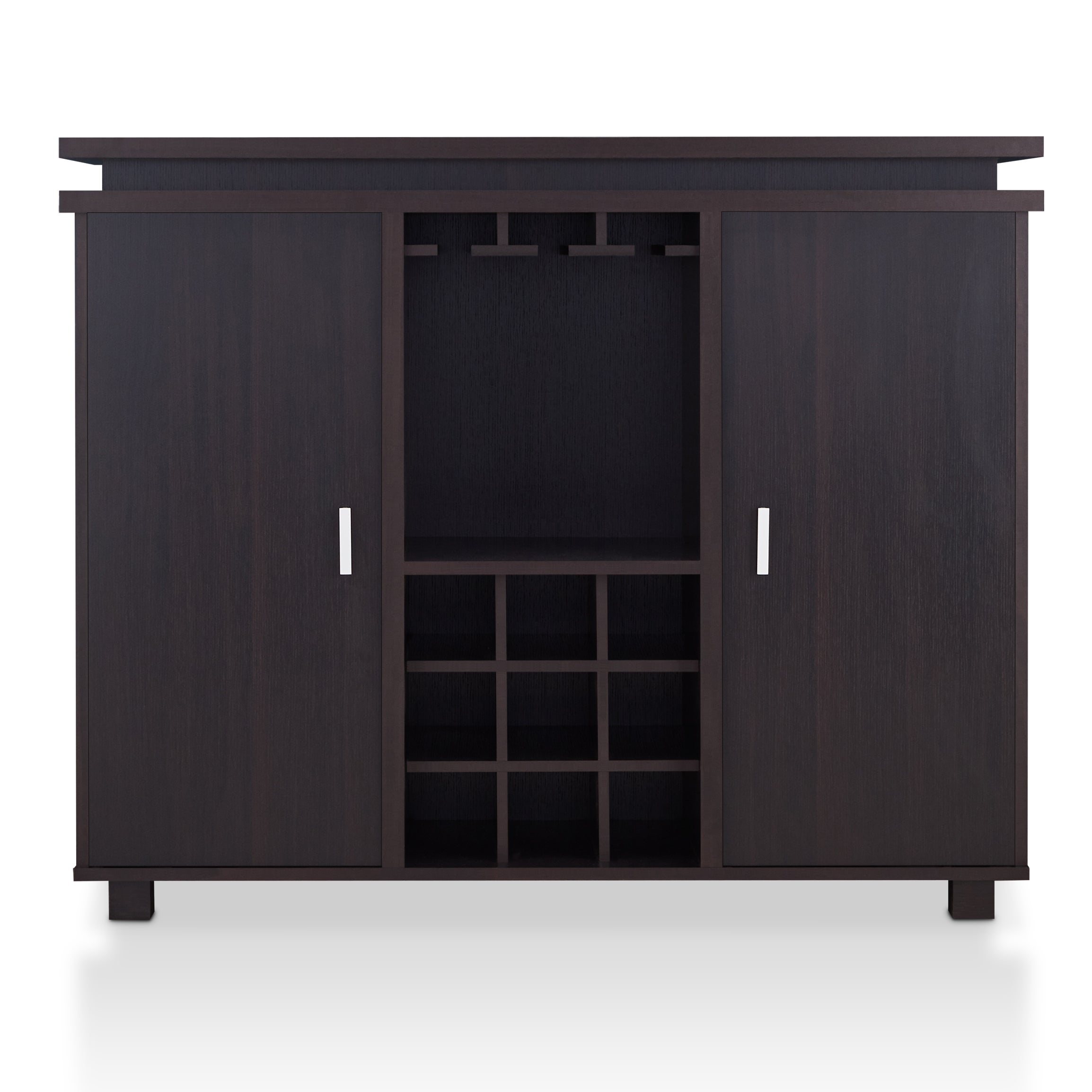 Furniture Of America Mirande Contemporary Espresso Dining Buffet With Wine Storage Within Contemporary Espresso Dining Buffets (View 19 of 30)