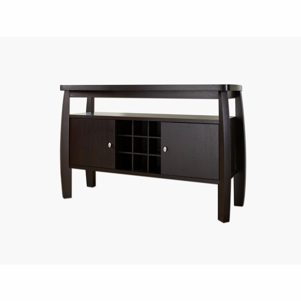 Furniture Of America – Shannelle Modern Buffet Table In Espresso – Idi 11462 With Regard To Contemporary Rolling Buffets (View 20 of 30)
