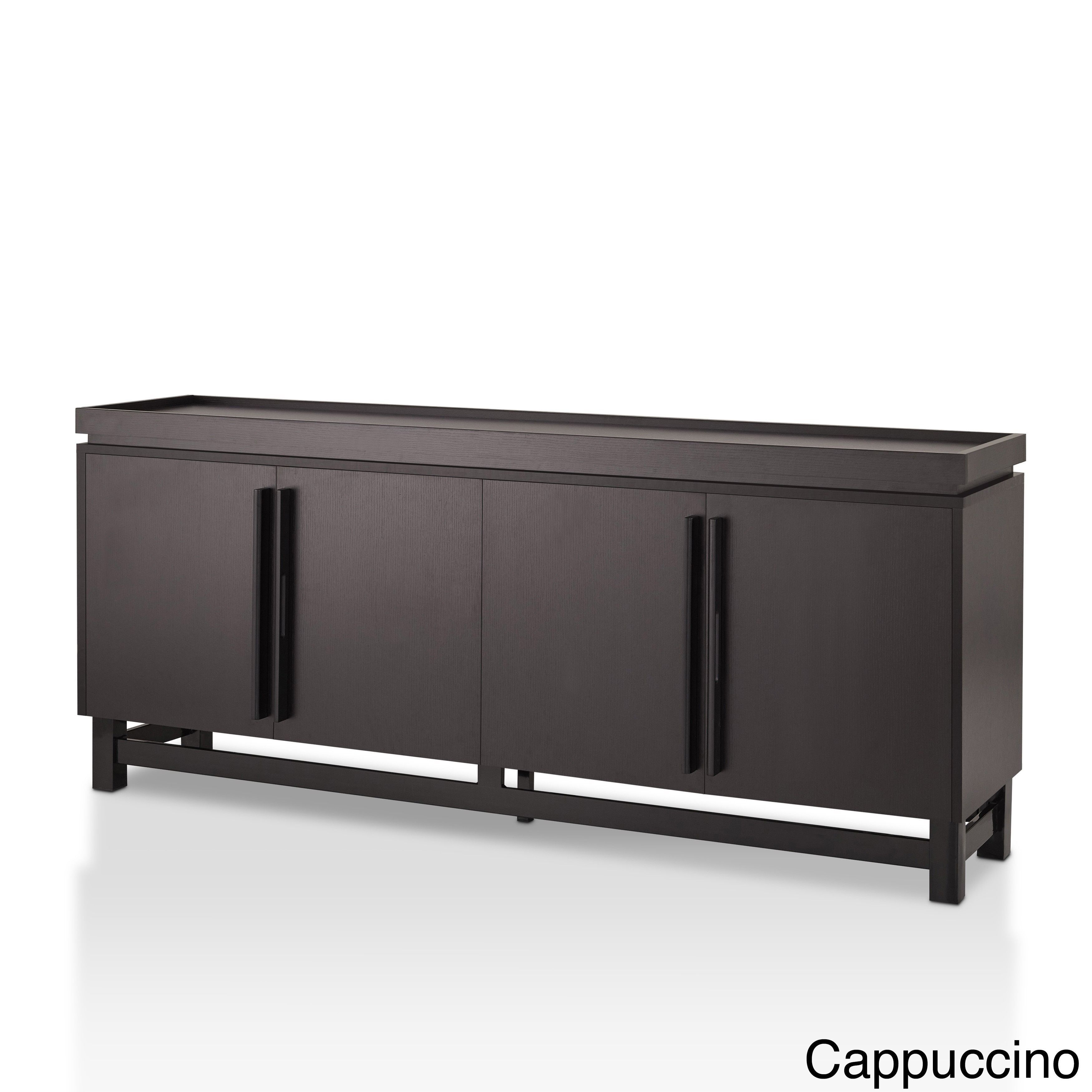 Furniture Of America Sonova Modern 70 Inch Buffet Cabinet With Regard To Contemporary Cappuccino Dining Buffets (View 18 of 30)