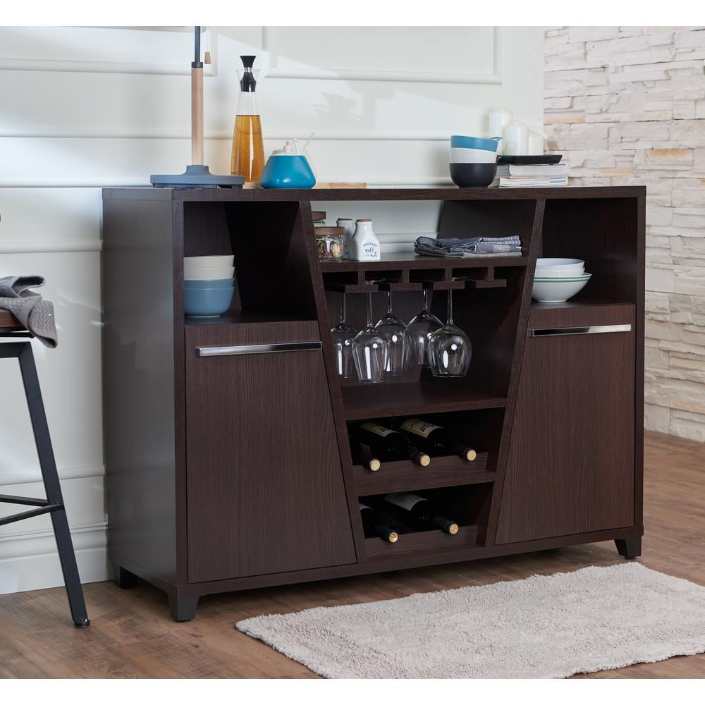 Furniture Of America Welin Espresso (brown) Buffet In 2019 Regarding Espresso Sliding Door Stackable Buffets (View 5 of 30)