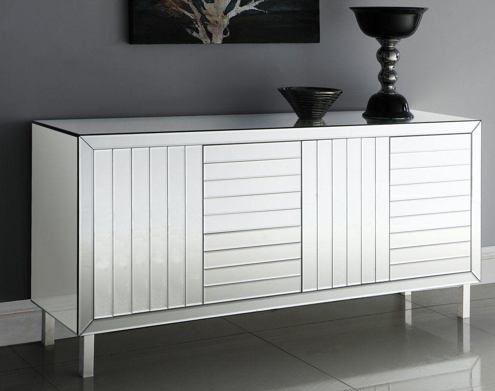 Gawon Sideboard | Bar Storage | Sideboard Buffet, Meridian throughout Candide Wood Credenzas (Image 16 of 30)
