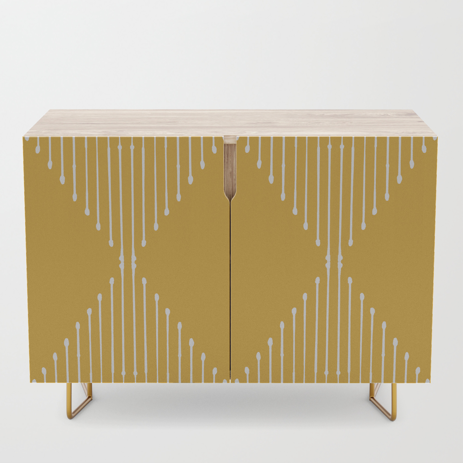 Geo / Yellow Credenza within Line Geo Credenzas (Image 15 of 30)