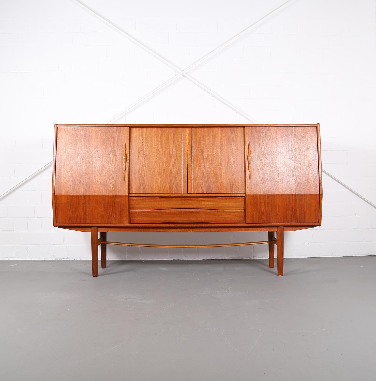 Geometric Danish Design Teak Sideboard Credenza – Dekaden For Mid Century Modern Scandinavian Style Buffets (View 22 of 30)