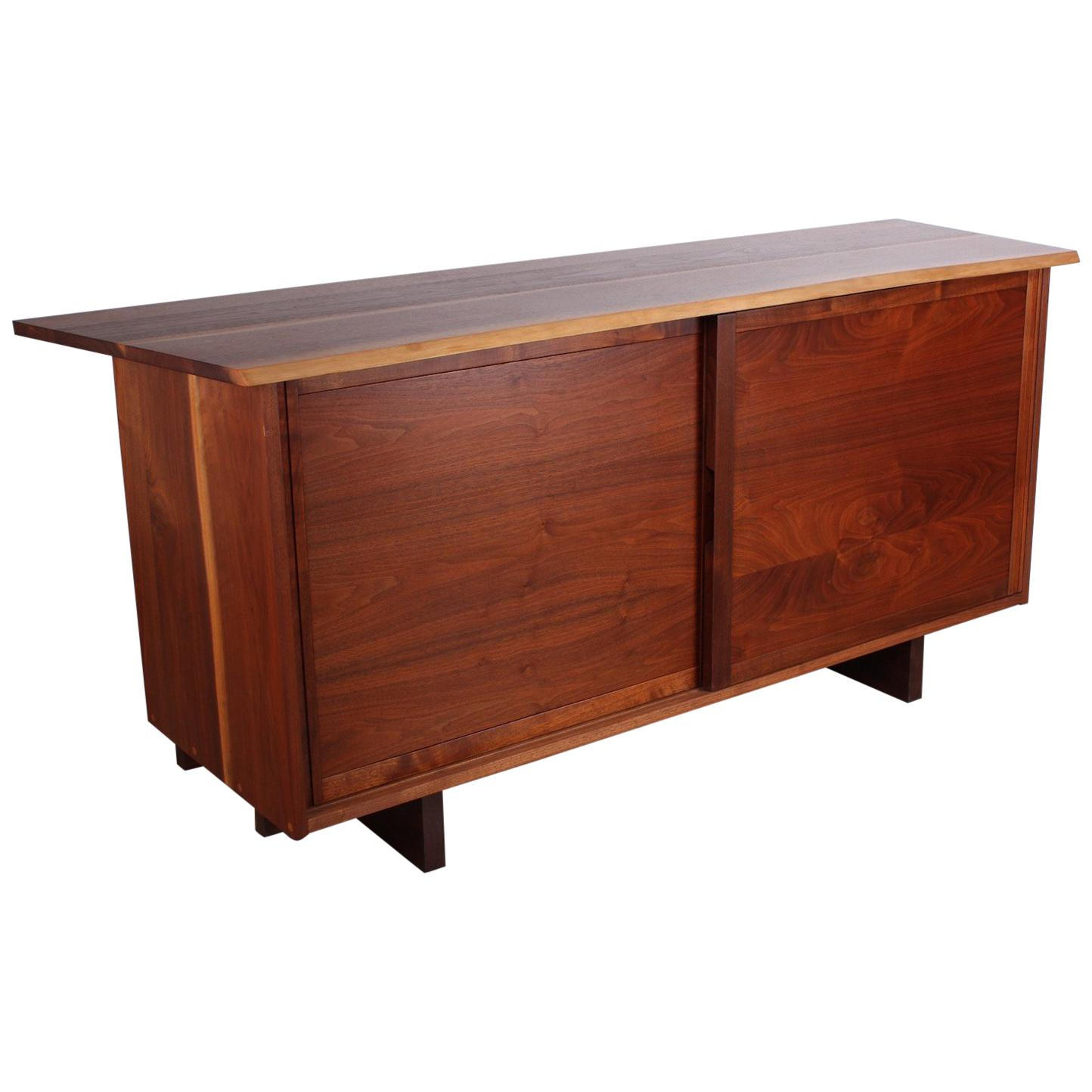 George Nakashima Walnut Cabinet, 1962 In Stephen Credenzas (View 14 of 30)