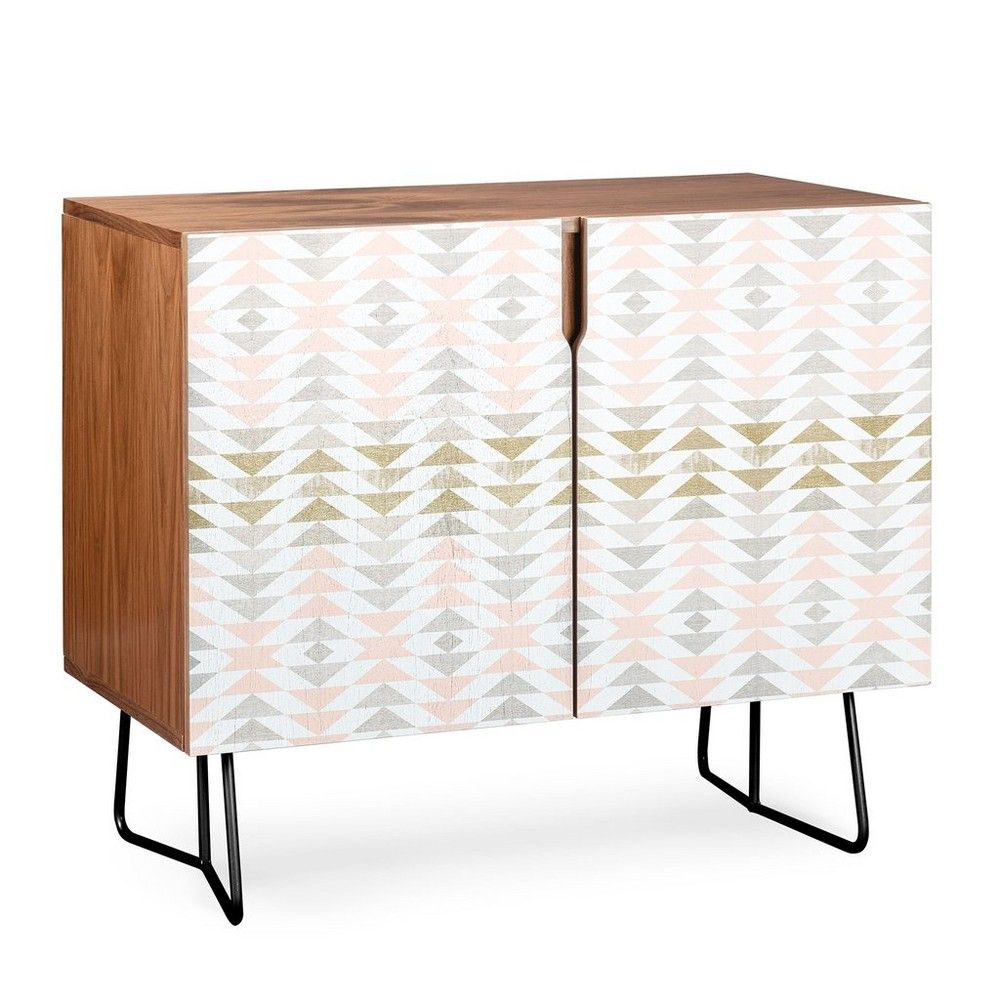 Georgiana Paraschiv Triangles Credenza Black Legs Pink in Multi Colored Geometric Shapes Credenzas (Image 20 of 30)