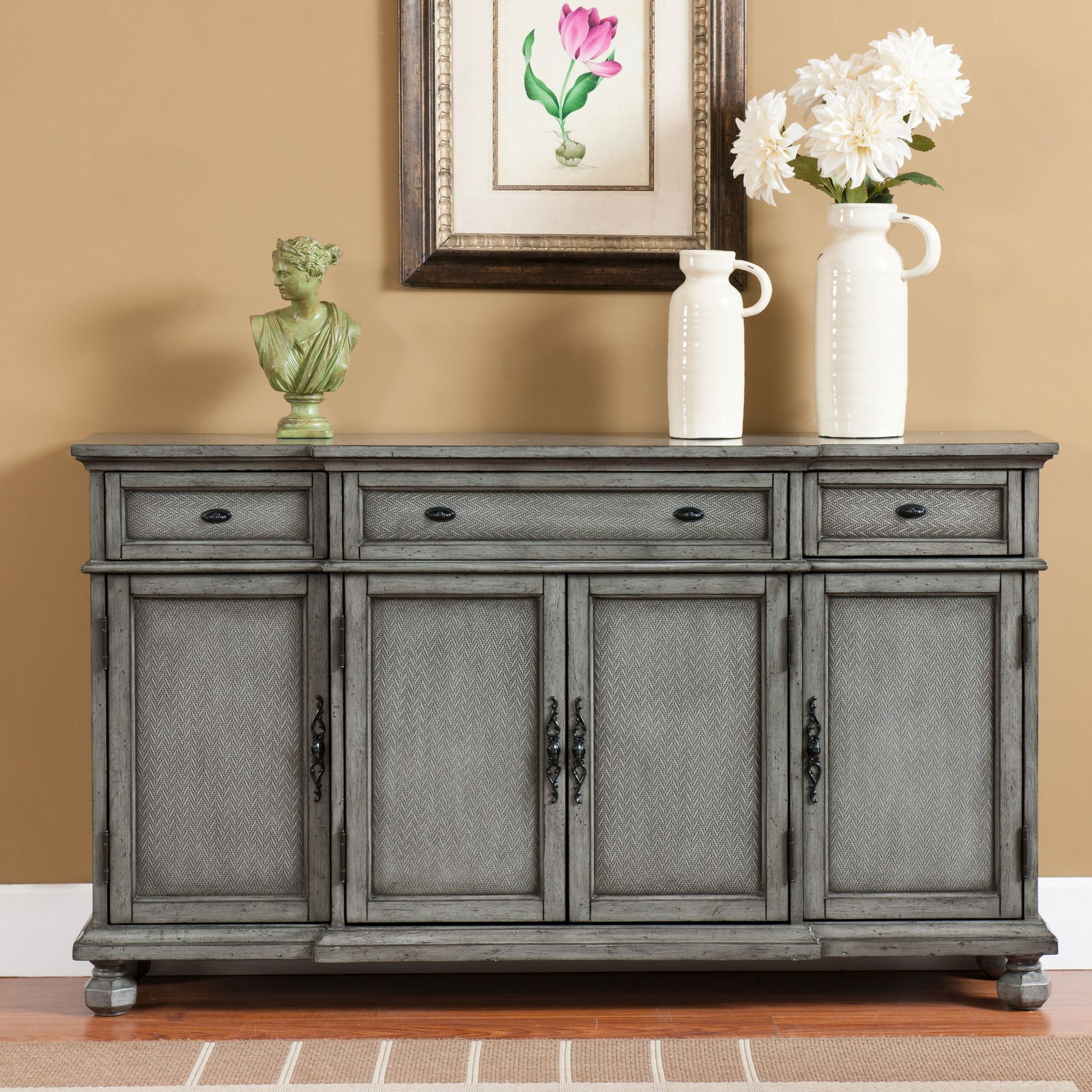 Giulia 3 Drawer Credenza   Family Room   Sideboard Within Giulia 3 Drawer Credenzas (View 3 of 30)