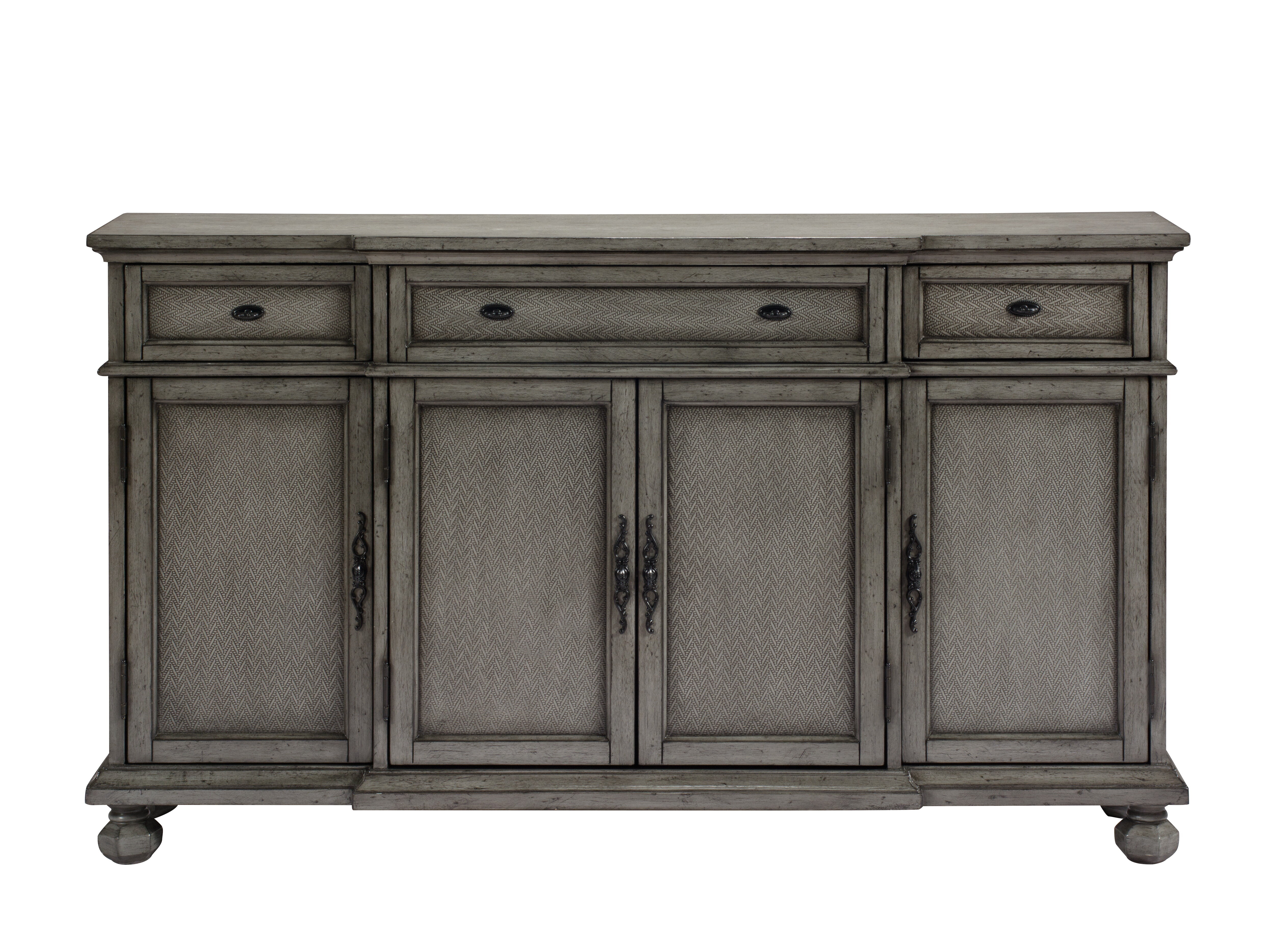 Giulia 3 Drawer Credenza in Ilyan Traditional Wood Sideboards (Image 11 of 30)