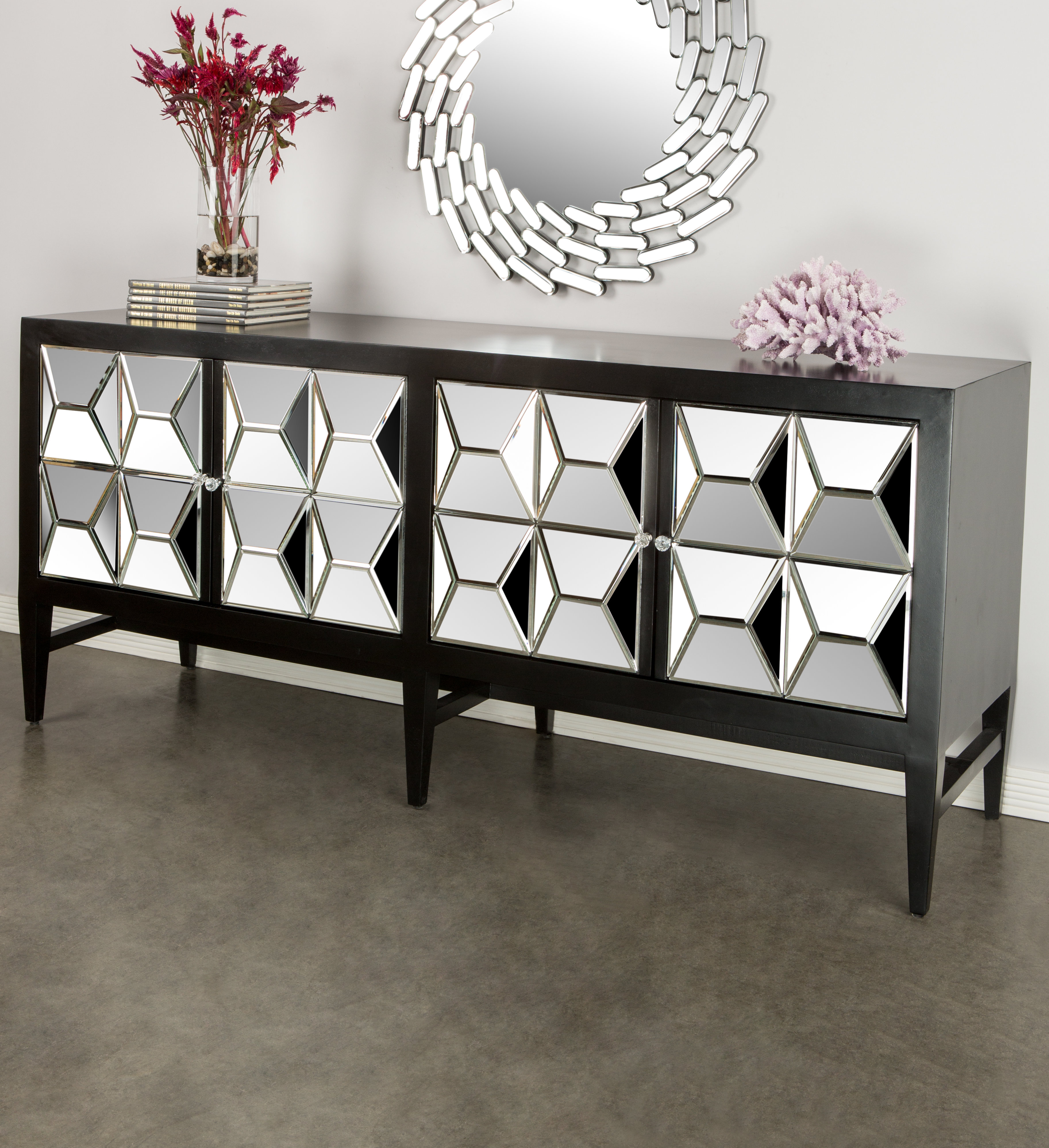 Glass Buffet Table You'll Love In 2019 | Wayfair With Contemporary Three Tier Glass Buffets With Black Metal Frame (View 6 of 30)