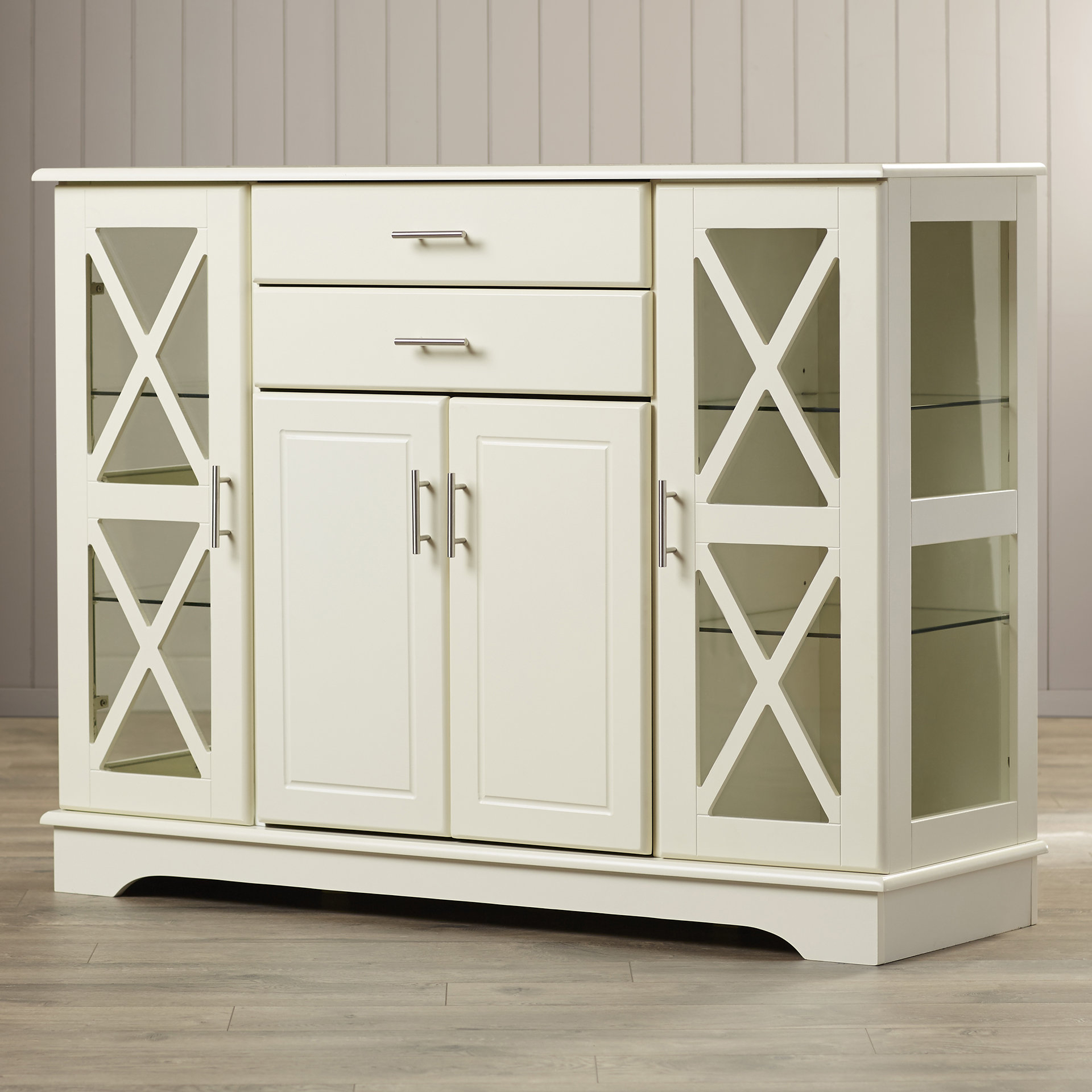 Glass Doors Sideboards & Buffets | Joss & Main Intended For Candace Door Credenzas (View 16 of 30)