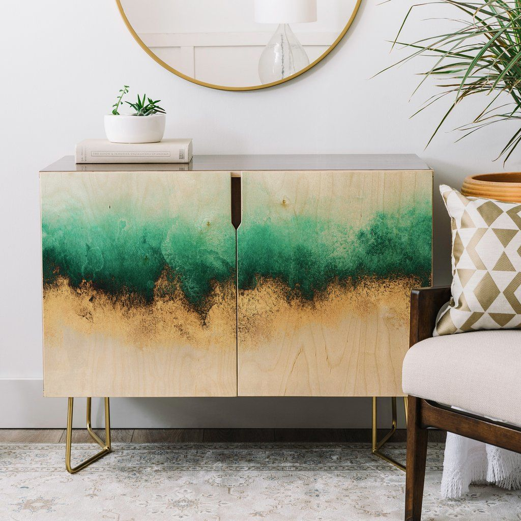 Green And Gold Sky Credenza Elisabeth Fredriksson | Real For Turquoise Skies Credenzas (View 13 of 30)