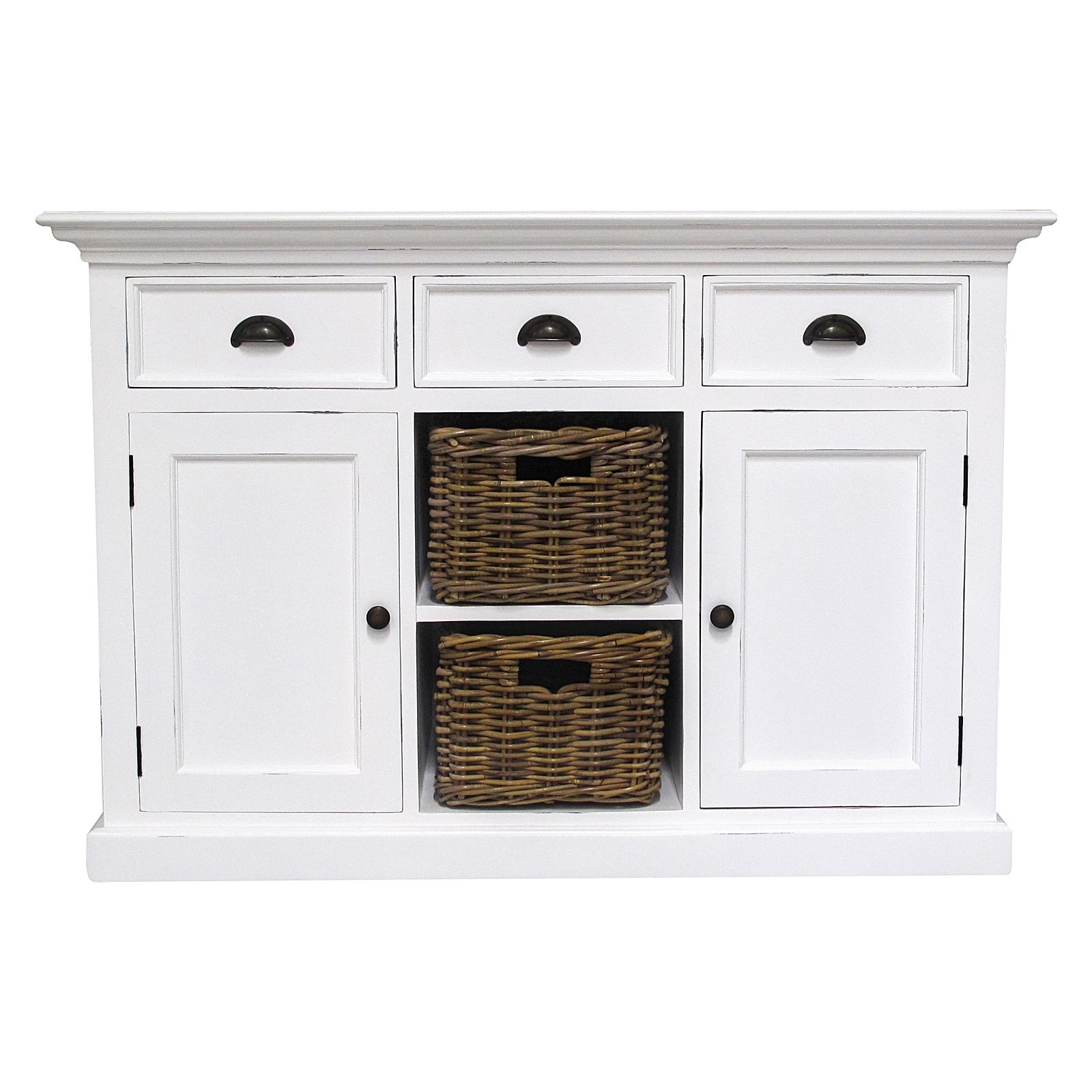 Halifax 3 Drawer Open Buffet with regard to 3-Drawer Storage Buffets (Image 14 of 30)