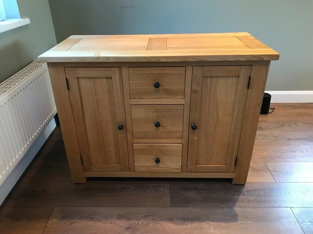 Halo Light Oak 3 Drawer & 2 Door Sideboard | In York, North Yorkshire |  Gumtree for North York Sideboards (Image 8 of 30)