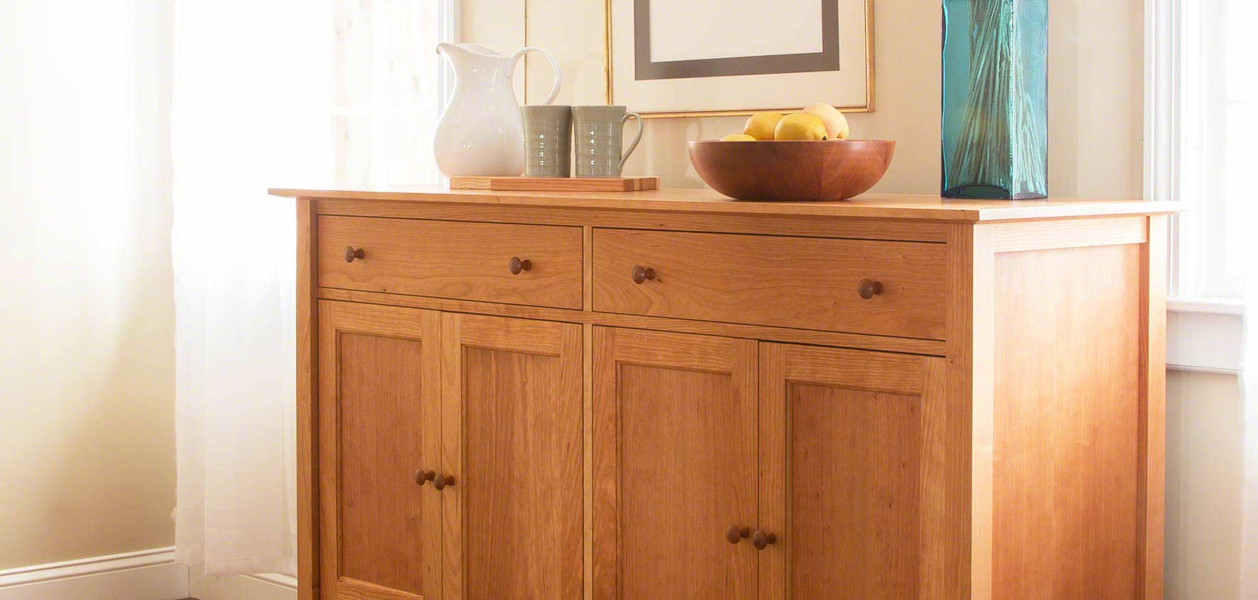 Handcrafted Wood Buffets & Sideboards - Vermont Woods Studios intended for Modern Natural Oak Dining Buffets (Image 21 of 30)