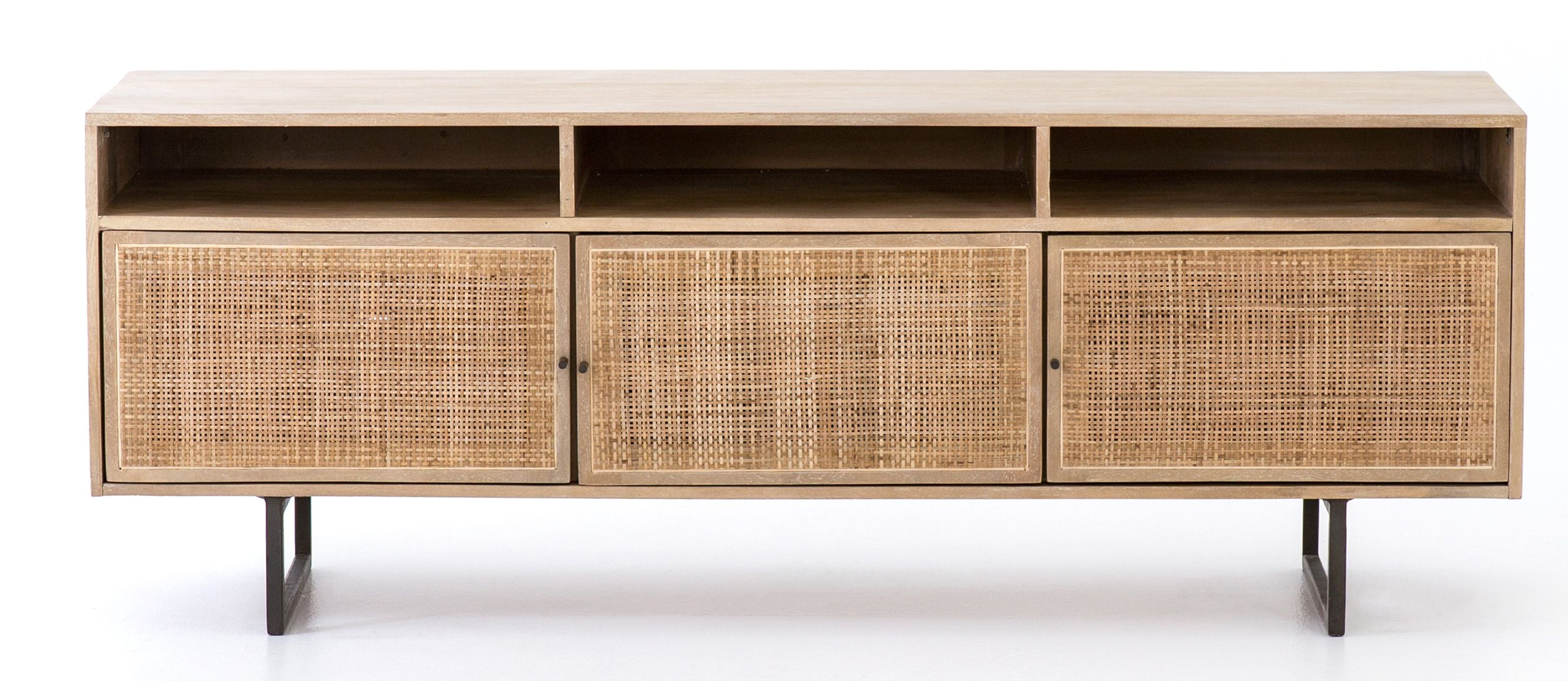 Hannah Media Console, Natural | Decor For The Decades For Candace Door Credenzas (View 17 of 30)