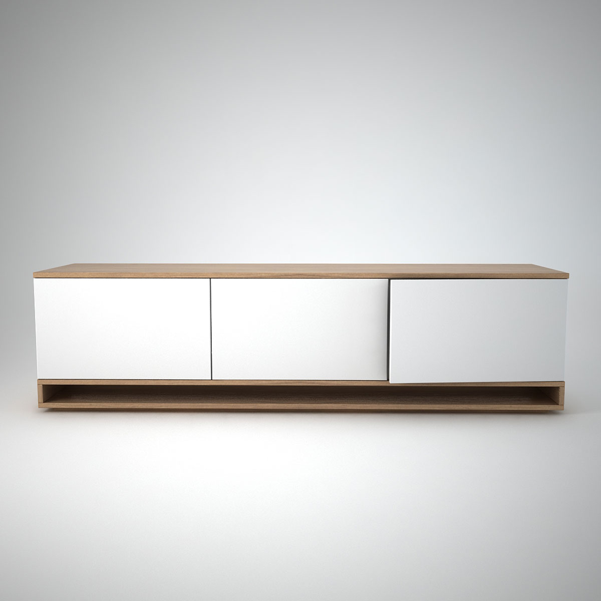 Harlem Low Sideboard (3) White pertaining to Thite Sideboards (Image 13 of 30)