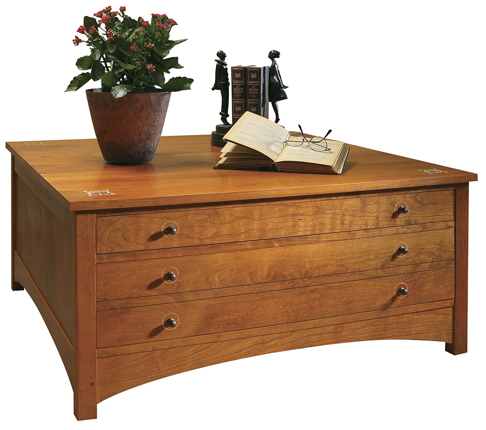 Harvey Ellis Storage Cocktail Table, Harvey Ellis Collection – Stickley Furniture With Regard To Copper Leaf Wood Credenzas (View 18 of 30)
