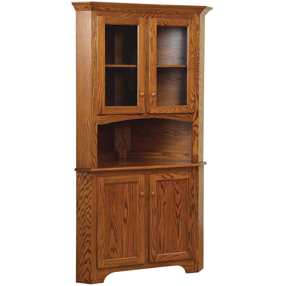 Havenhurst Corner Buffet With Amish Hutch Option Within Summer Desire Credenzas (View 11 of 30)