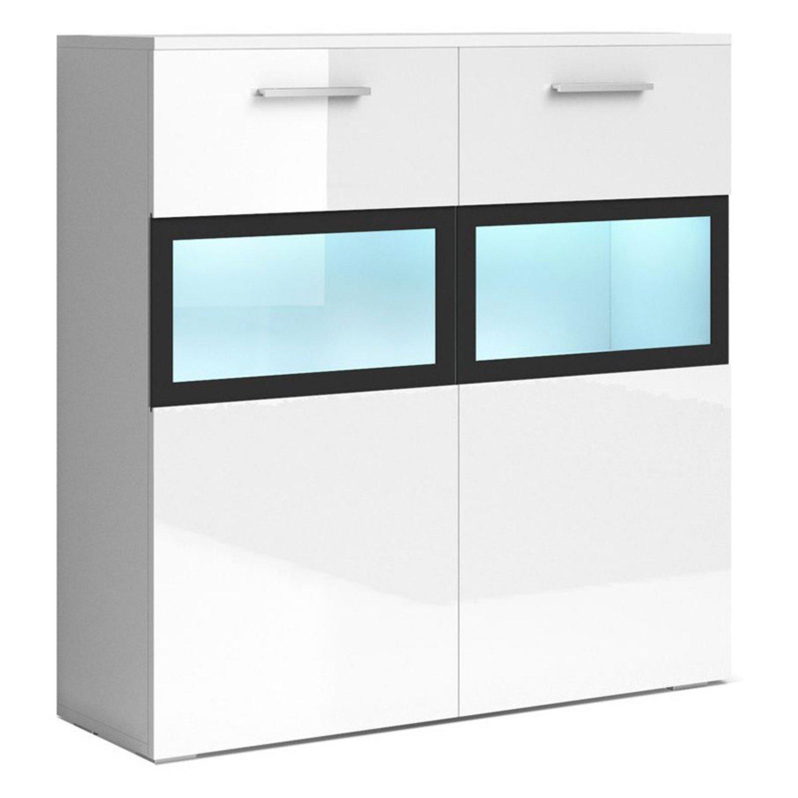 Helvetia Sarah Side Cabinet With Led | Products In 2019 Regarding Kieth 4 Door Credenzas (View 17 of 30)