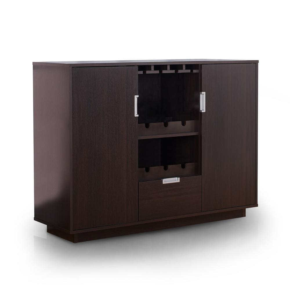 Henese Espresso Buffet With Regard To Contemporary Espresso 2 Cabinet Dining Buffets (View 14 of 30)
