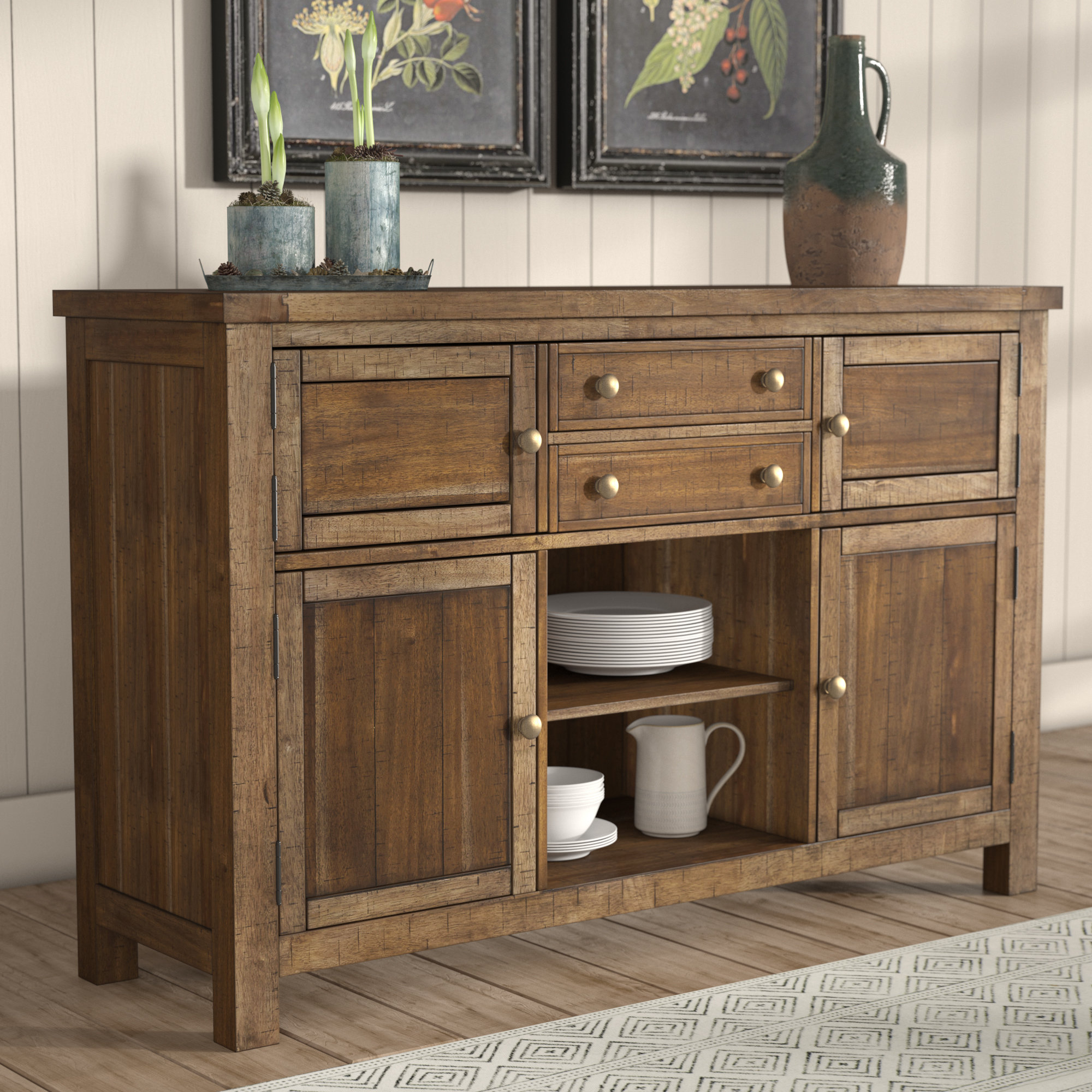 Hillary Dining Room Buffet Table With Regard To Whitten Sideboards (View 10 of 30)