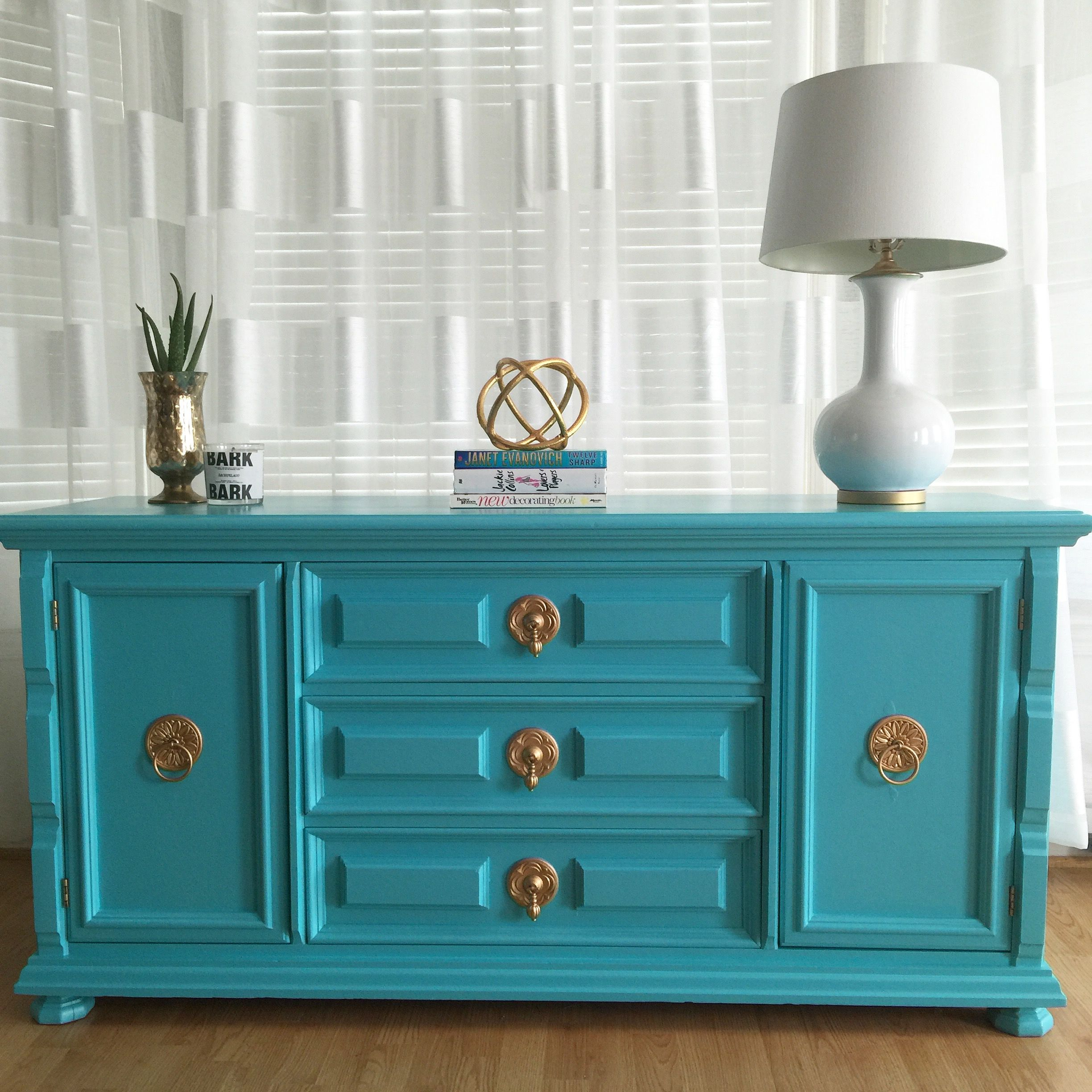 Hollywood Regency Credenza Sideboard Console Using High inside Deep Blue Fern Credenzas (Image 15 of 30)
