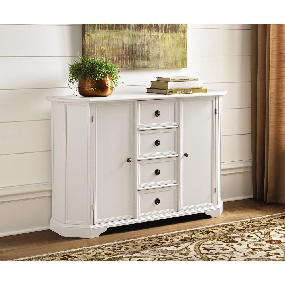 Home Decorators Collection Caley Antique White Buffet Intended For Simple Living Antique White Kendall Buffets (View 8 of 30)