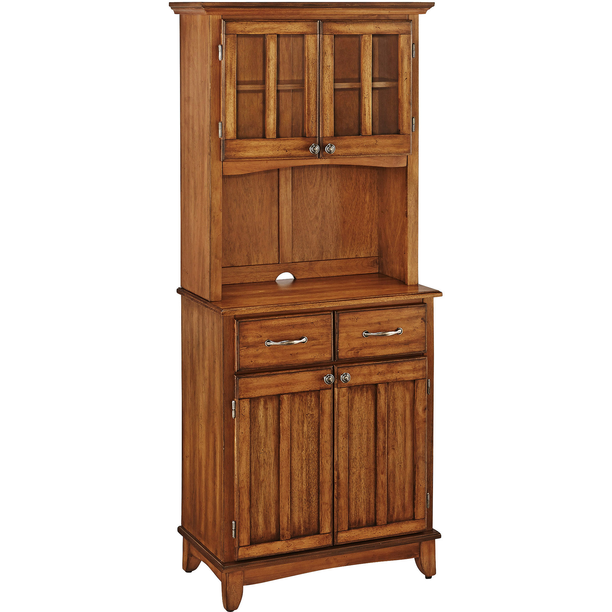 Home Styles Small Buffet With Two Door Hutch, Cottage Oak Finish – Walmart Within Contemporary Style Wooden Buffets With Two Side Door Storage Cabinets (View 14 of 30)