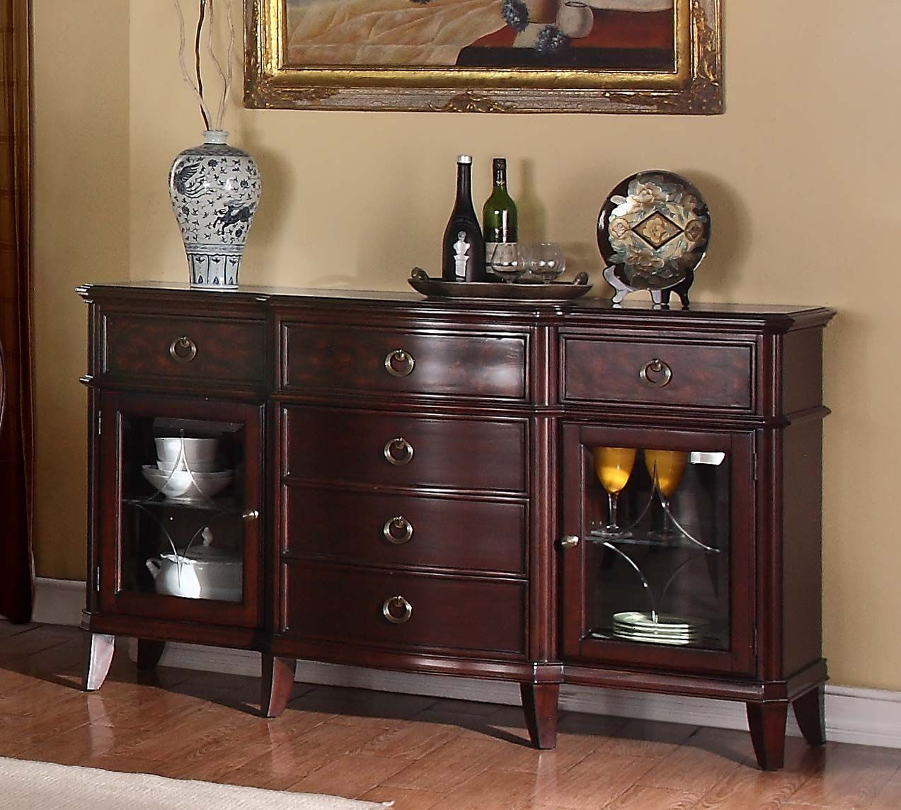 Homelegance Agatha Buffet Server – Rich Cherry | Furniture With Regard To Chalus Sideboards (View 15 of 30)