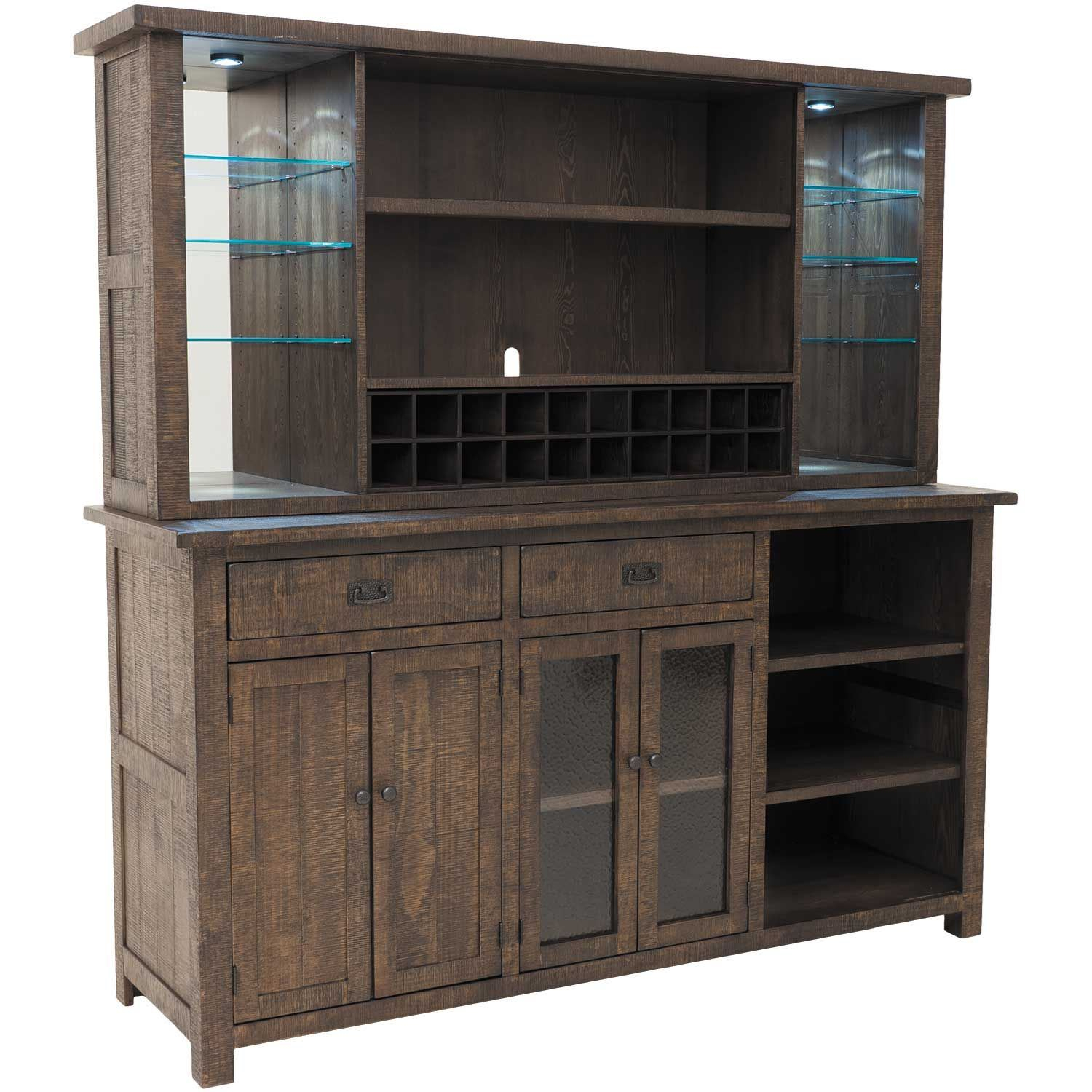 Homestead Buffet And Hutch pertaining to Modern Espresso Storage Buffets (Image 16 of 30)