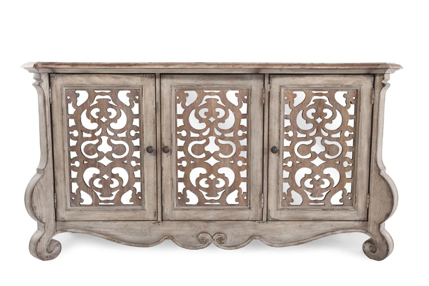 Hooker Chatelet Entertainment Console | Mathis Brothers Intended For Tavant Sideboards (View 24 of 30)