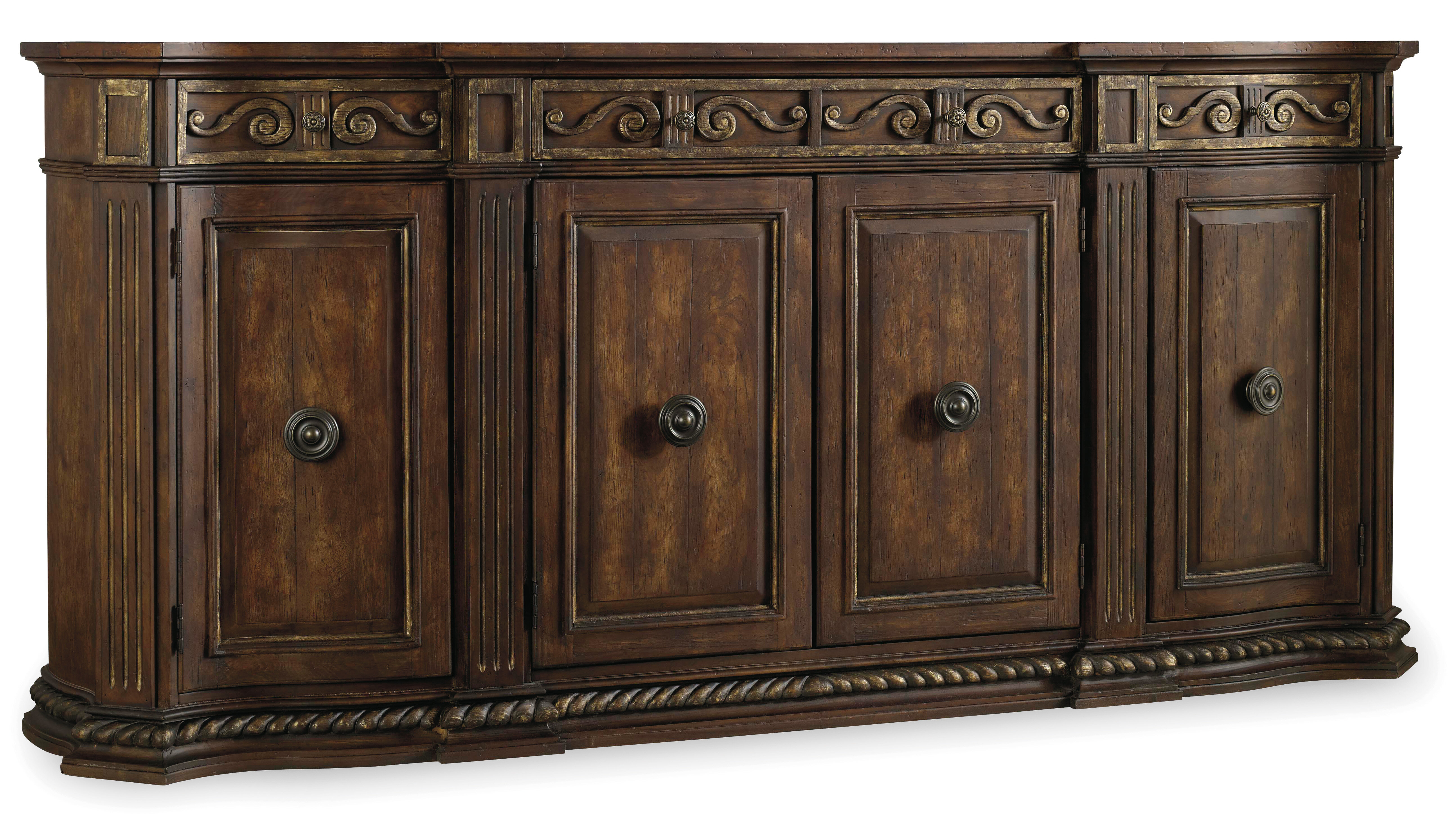 Hooker Furniture Apollinaris Sideboard in Jacklyn 3 Door Sideboards (Image 13 of 30)