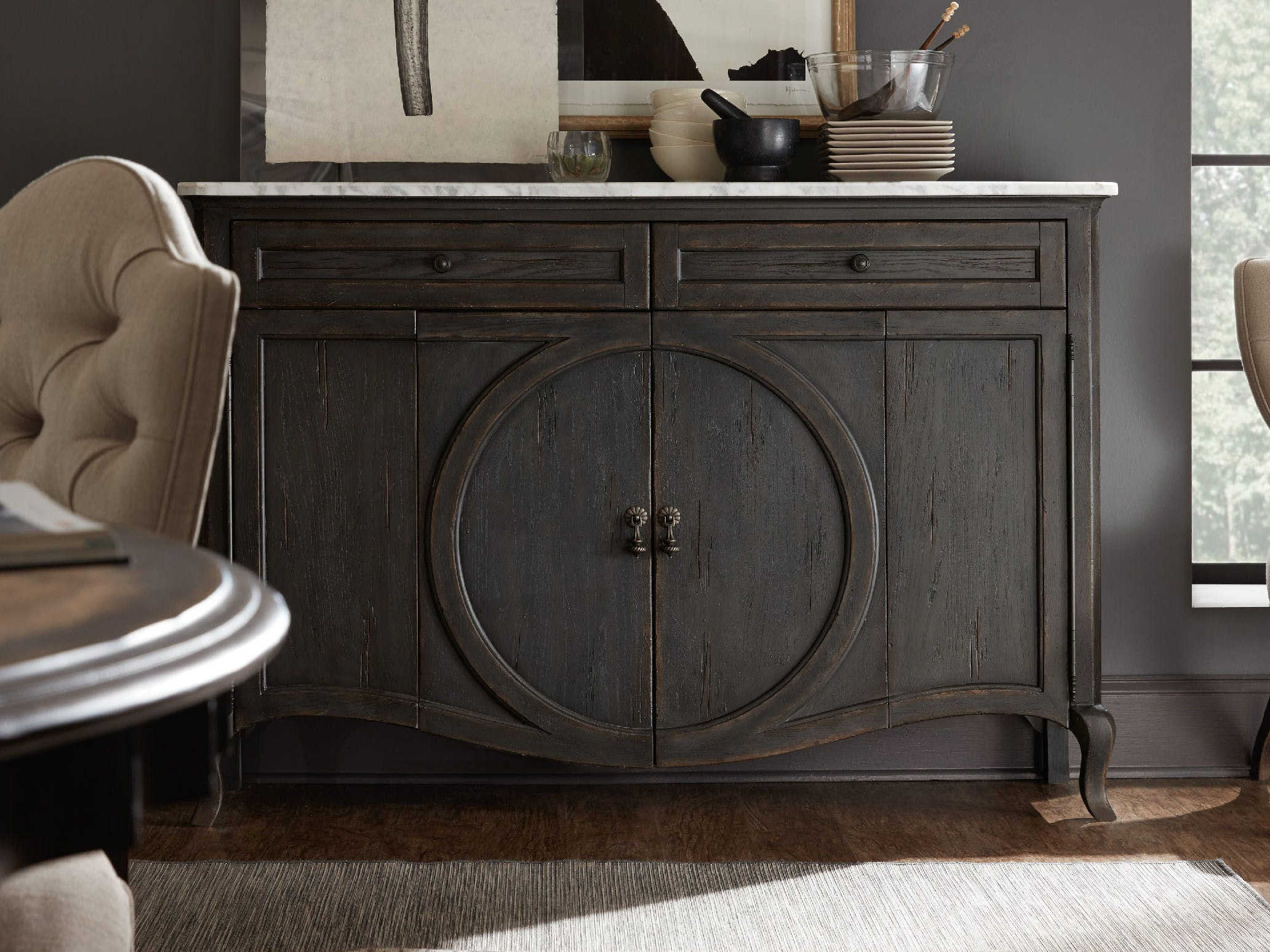Hooker Furniture Arabella Marble / Gray 62''w X 16''d Rectangular Credenza In Southwest Pink Credenzas (View 19 of 30)