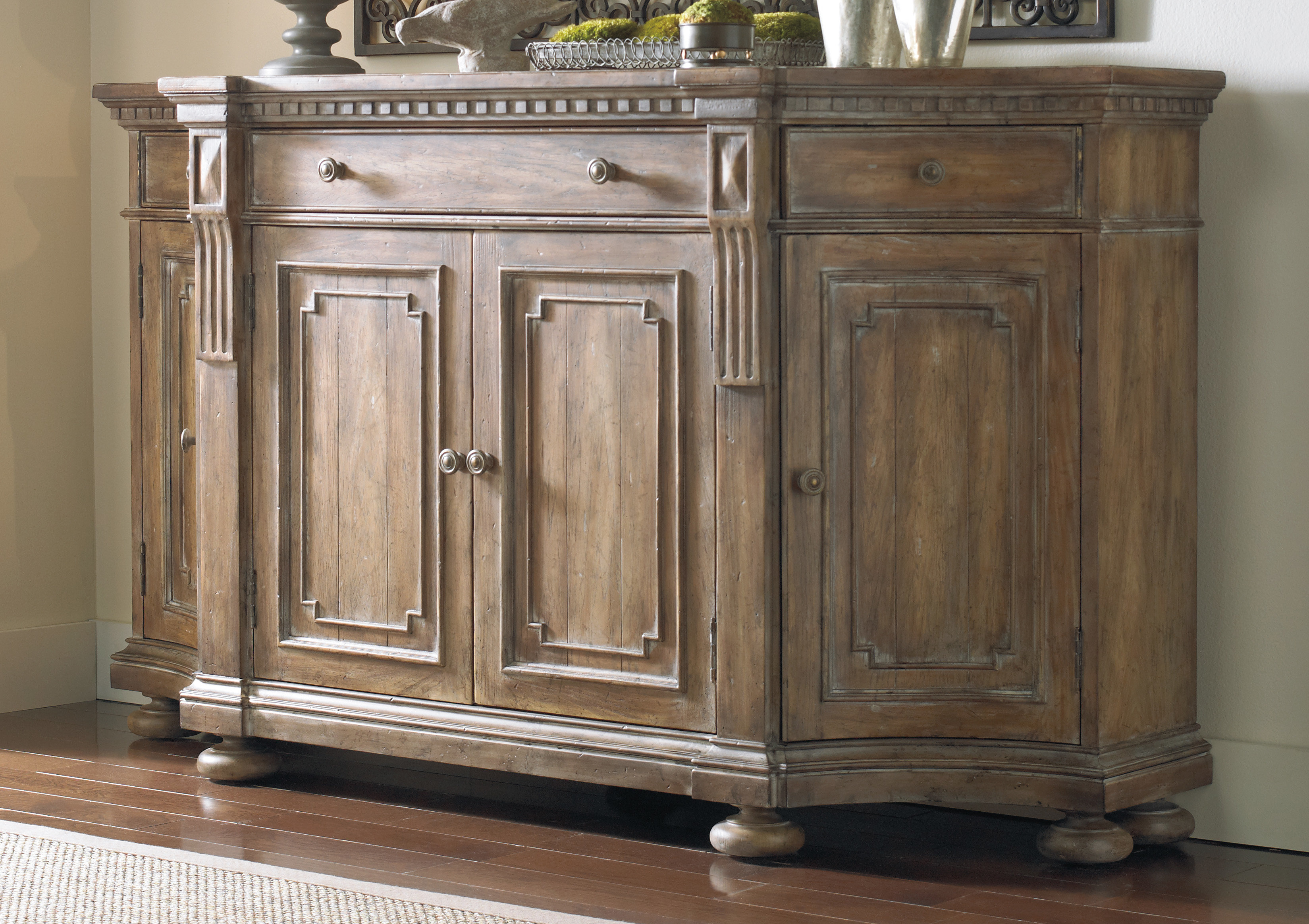 Hooker Furniture Gowins Shaped Sideboard in Ilyan Traditional Wood Sideboards (Image 14 of 30)