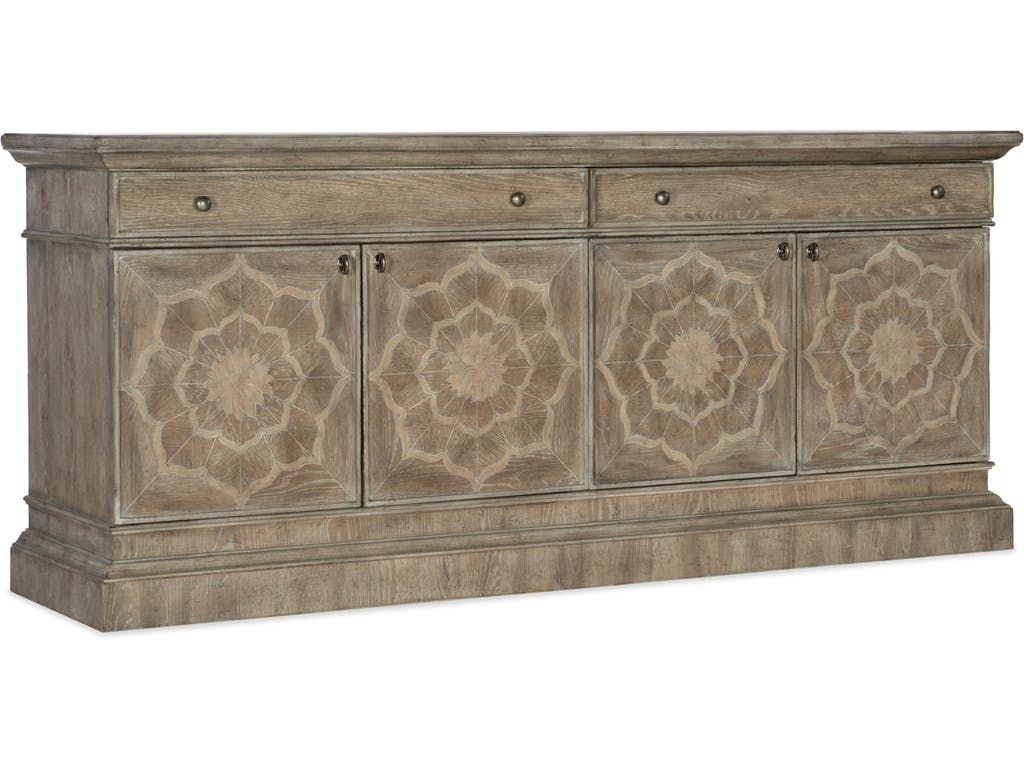 Hooker Furniture Home Entertainment Dahlia Entertainment with regard to Senda Credenzas (Image 14 of 30)