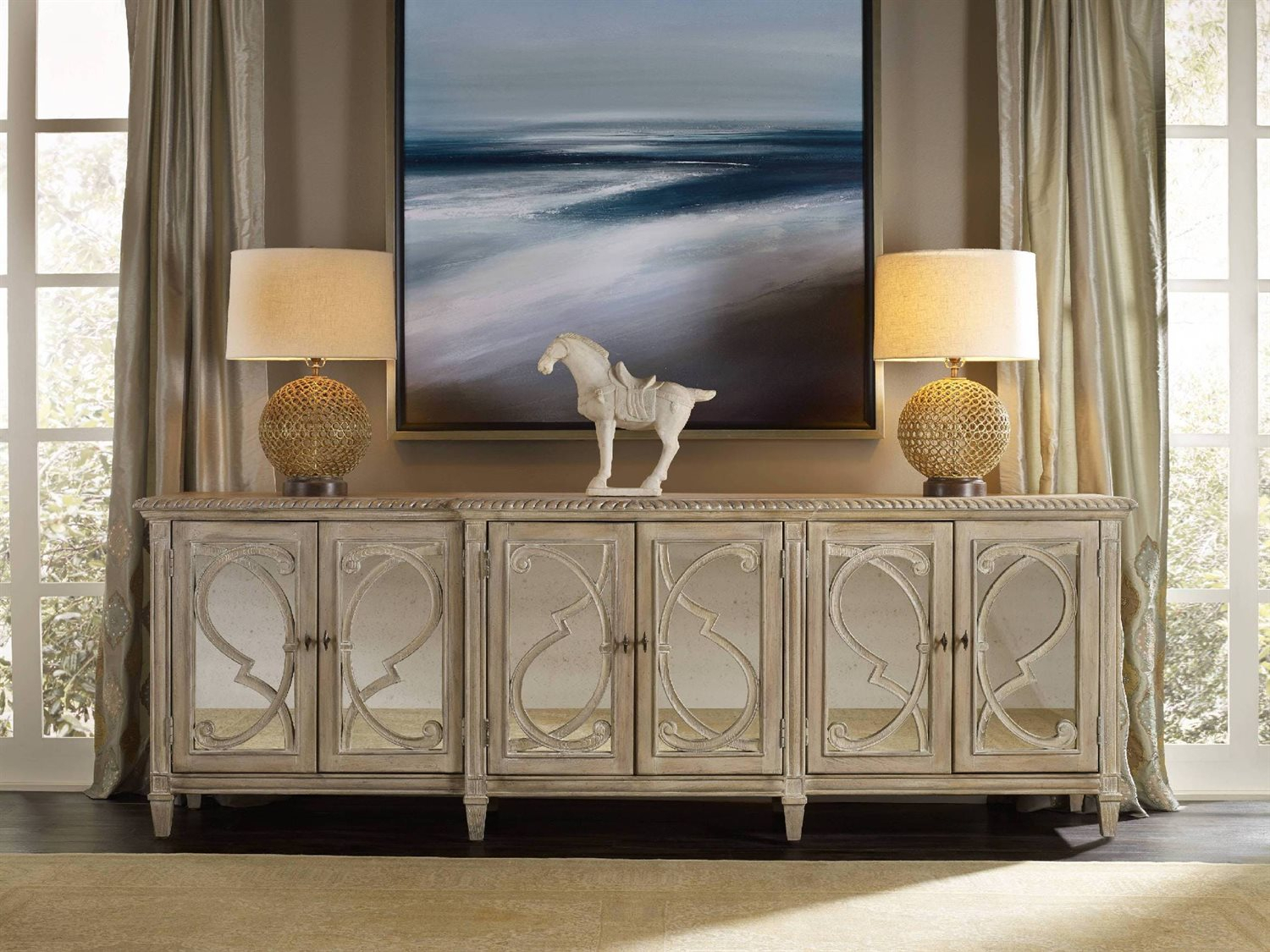 Hooker Furniture Solana Light Wood 105''l X 22''w Rectangular Console Buffet With Solana Sideboards (View 9 of 30)