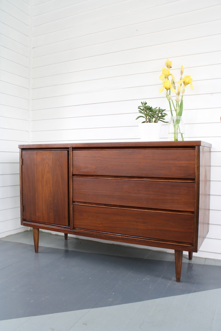 How To: Our Refinish A Mid Century Modern Buffet   Merrypad With Regard To Mid Century Modern Scandinavian Style Buffets (View 12 of 30)