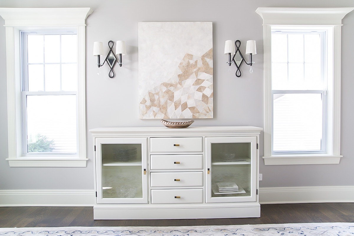 How To Paint Pottery Barn Furniture: Buffet Makeover | So For Simple Living Montego Black Wooden Buffets (View 12 of 30)