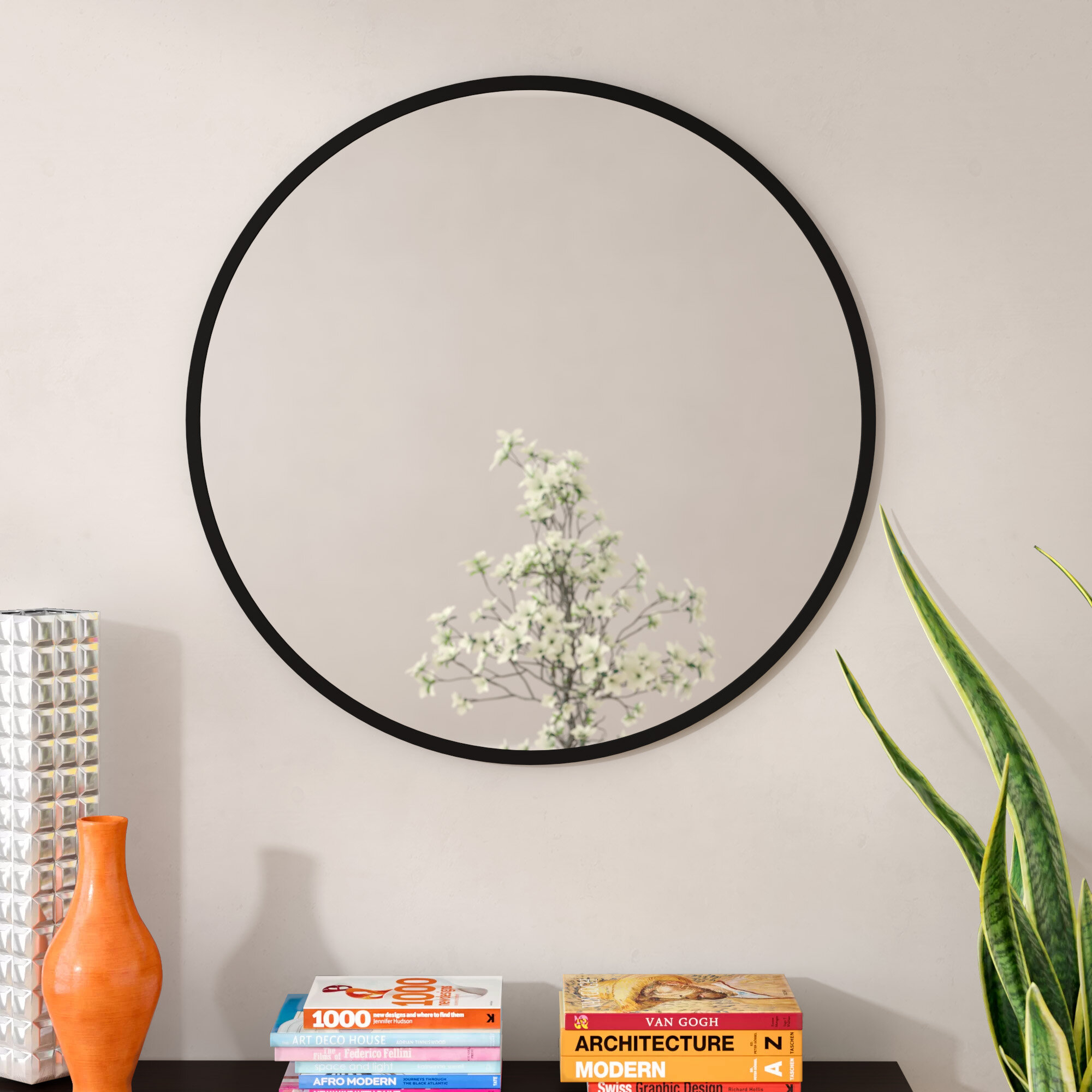 Hub Modern And Contemporary Accent Mirror With Carbon Loft Feleni Contemporary Buffets (View 18 of 30)