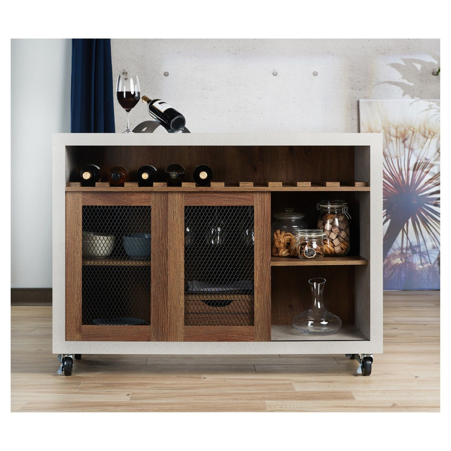 Iohomes Willis Industrial Dining Buffet Distressed Walnut with Jessenia Sideboards (Image 20 of 30)