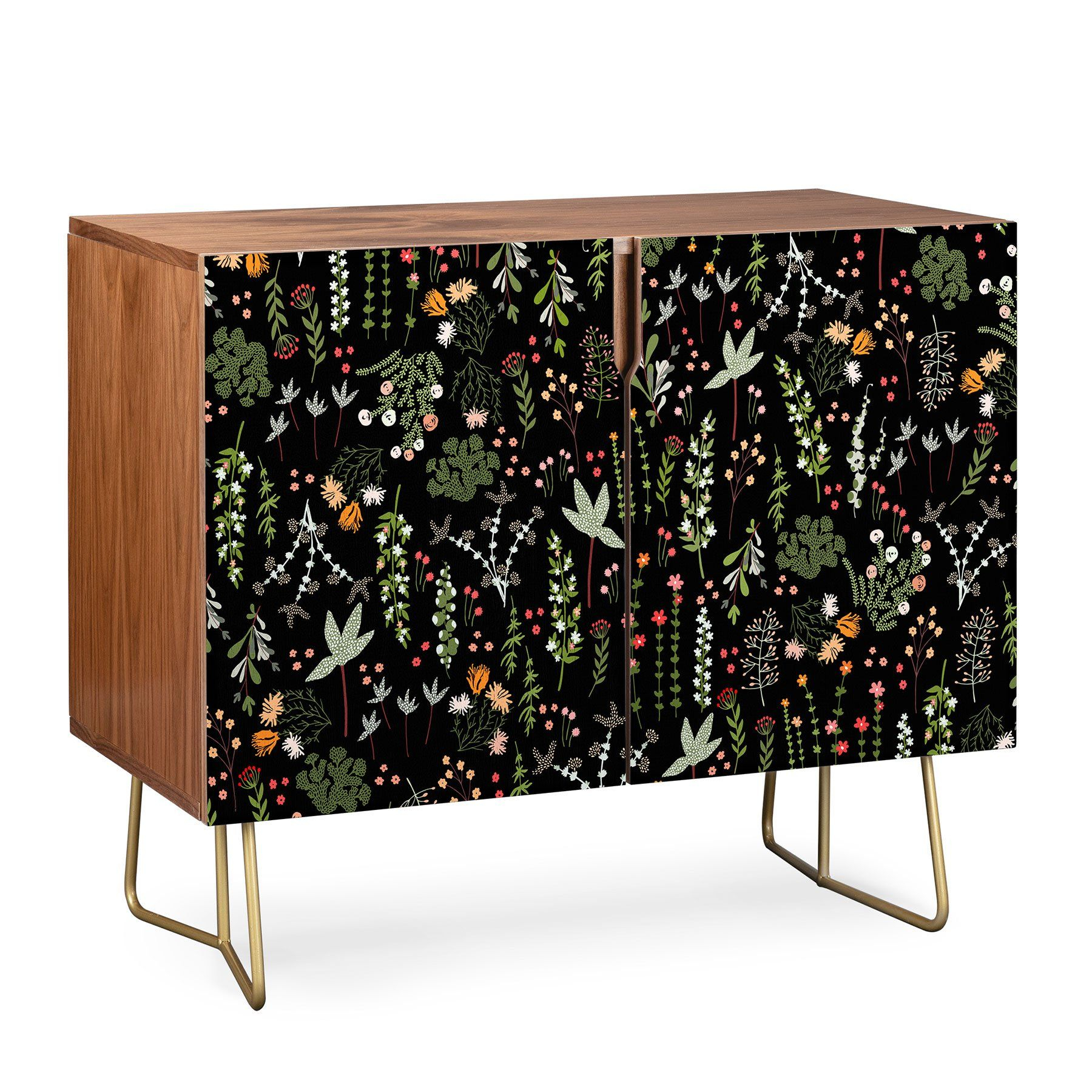 Iveta Abolina Floral Goodness Ii Credenza In 2019 | Interior Intended For Emmaline Sideboards (View 16 of 30)