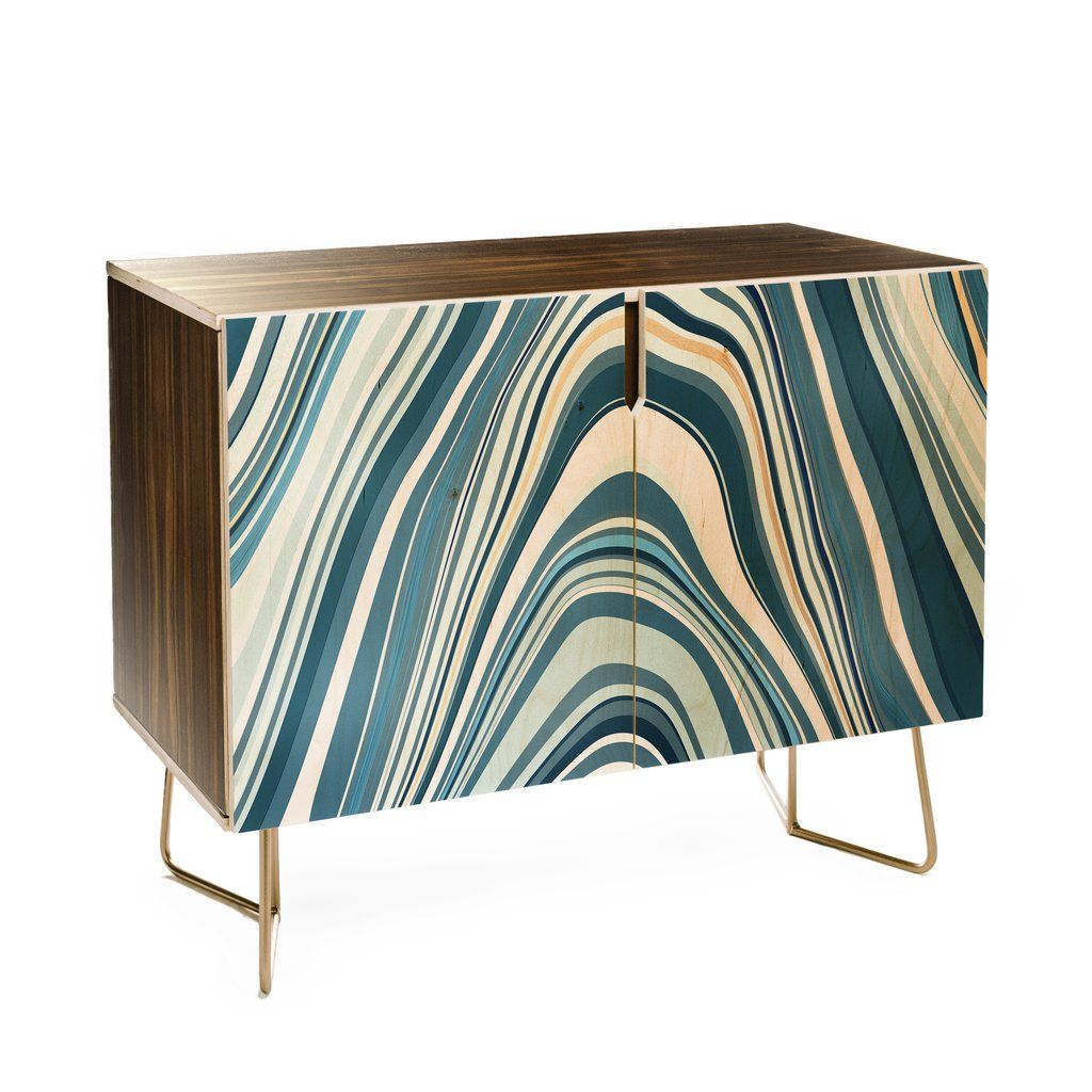 Jacqueline Maldonado Marble Blue Credenza In 2019 | My for Multi Stripe Credenzas (Image 21 of 30)