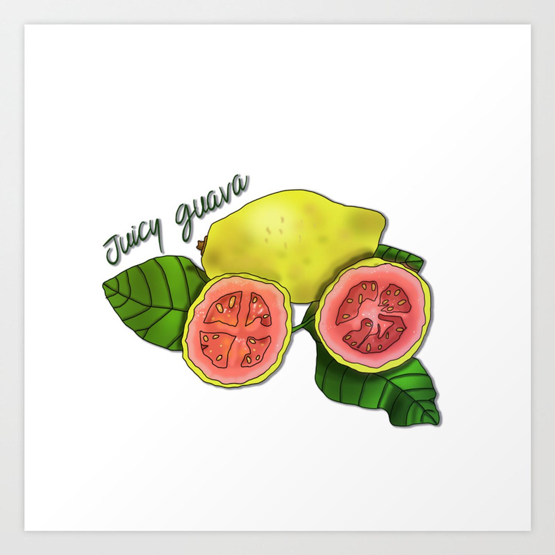 Juicy Guava Art Print with regard to Juicy Guava Credenzas (Image 20 of 30)