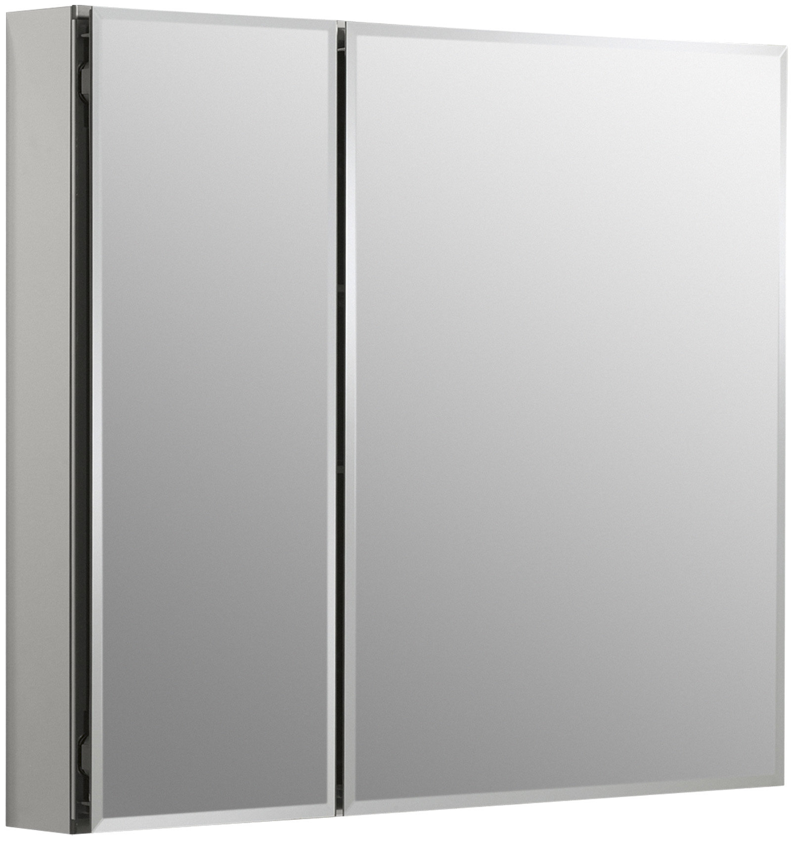 "K Cb Clc3026Fs Kohler 30"" X 26"" Aluminum Two Door Medicine Pertaining To Mirrored Double Door Buffets (Photo 29 of 30)"