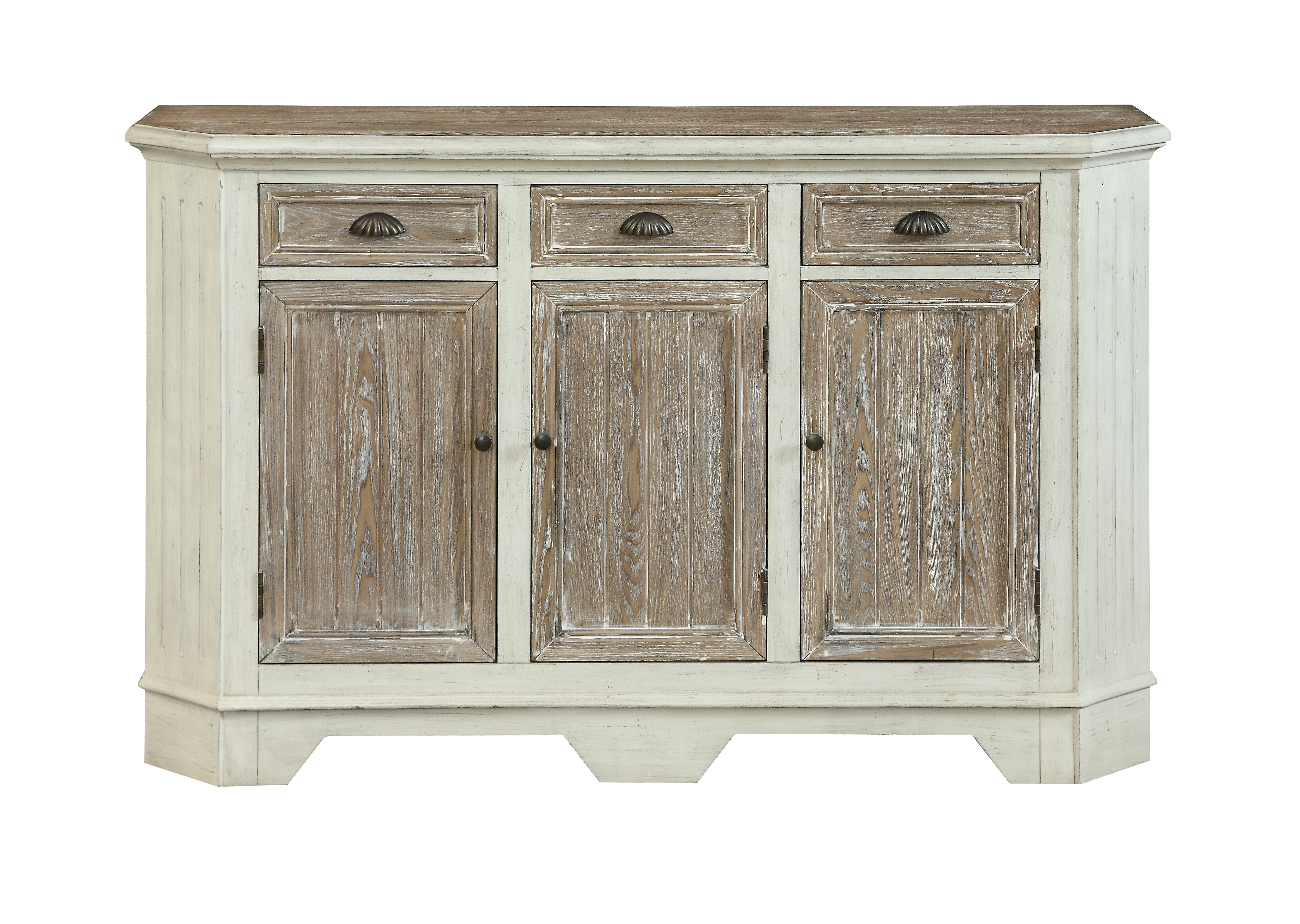 Kassie 3 Door Sideboard | Wayfair pertaining to Jacklyn 3 Door Sideboards (Image 15 of 30)