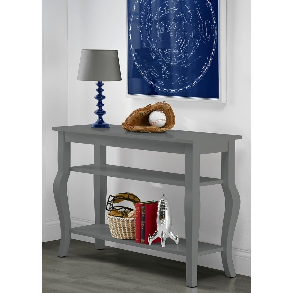 Kate And Laurel Lillian Wood 2 Shelf Console Table With Curved Legs Intended For 2 Shelf Buffets With Curved Legs (View 15 of 30)