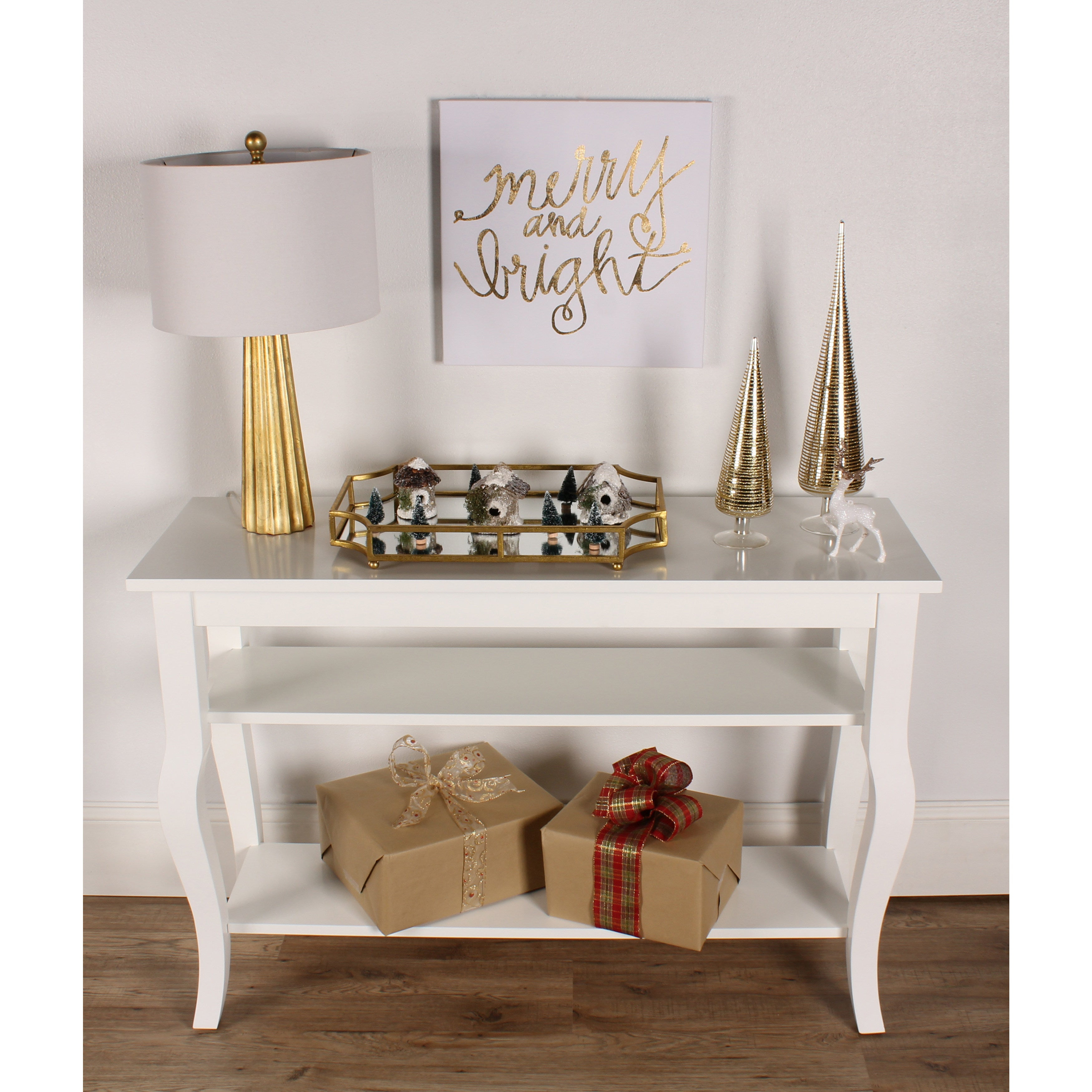Kate And Laurel Lillian Wood 2 Shelf Console Table With Curved Legs | Overstock Shopping – The Best Deals On Coffee, Sofa & End Tables Regarding 2 Shelf Buffets With Curved Legs (View 18 of 30)