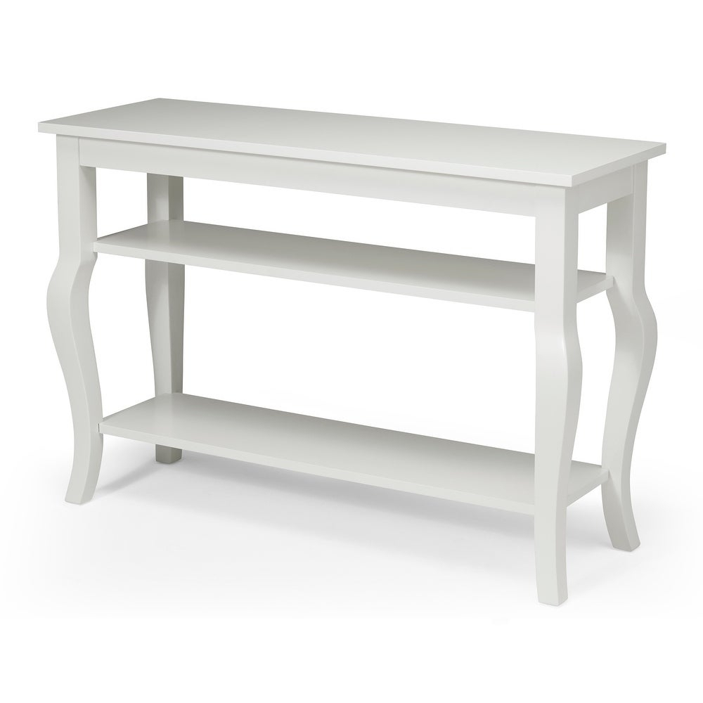 Kate And Laurel Lillian Wood 2 Shelf Console Table With Curved Legs Throughout 2 Shelf Buffets With Curved Legs (Photo 12 of 30)