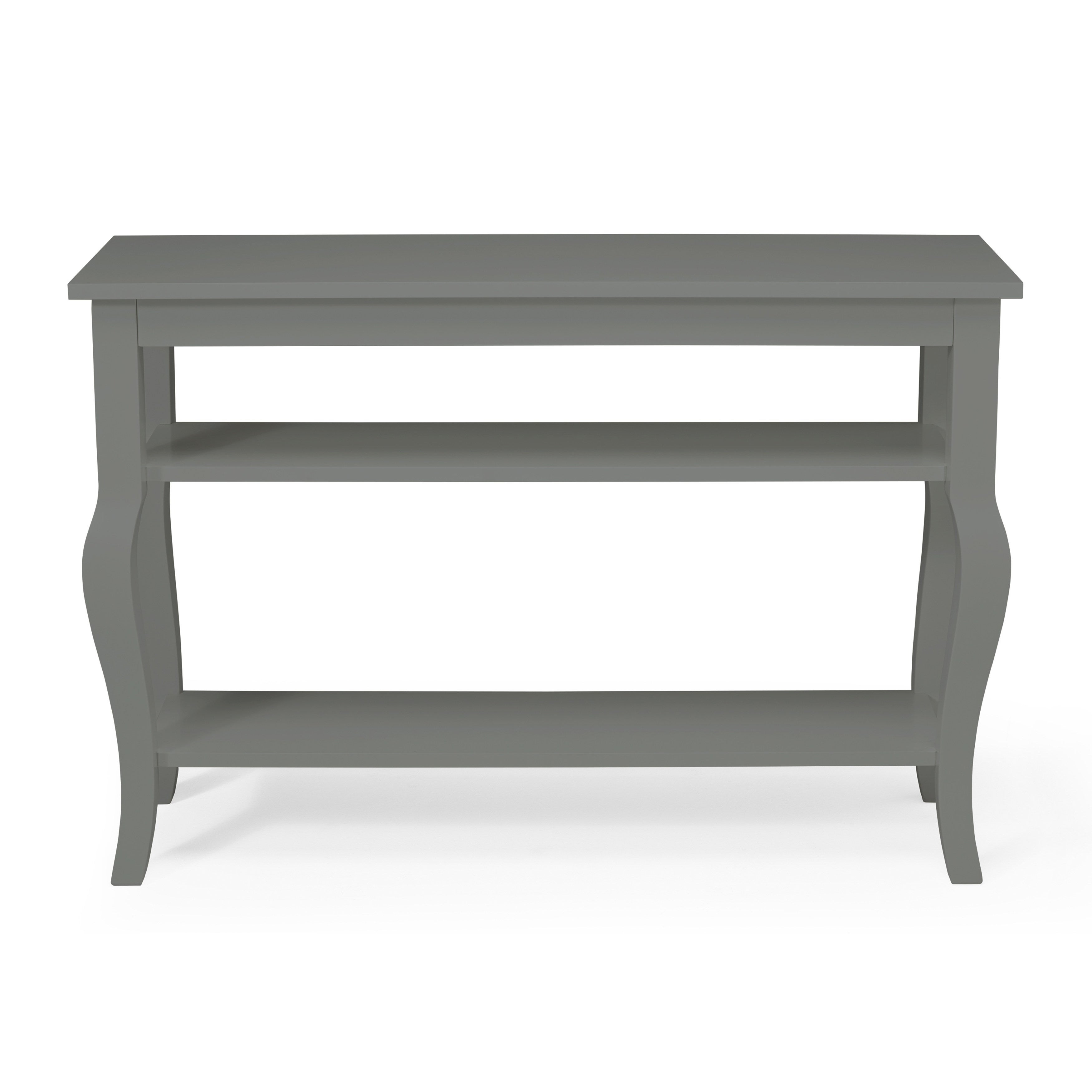 Kate And Laurel Lillian Wood 2 Shelf Console Table With Curved Legs Throughout 2 Shelf Buffets With Curved Legs (Photo 1 of 30)