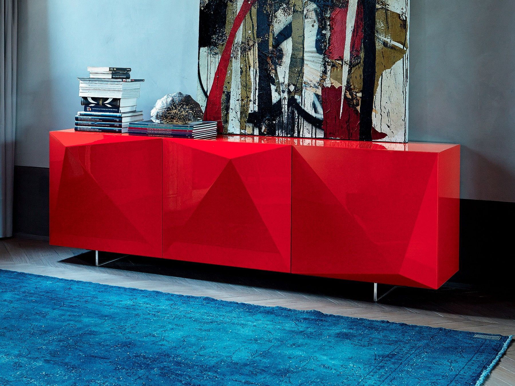 Kayak Sideboard | Cattelan Italia At Chaplins | Furniture With Regard To Modern Red Buffets (Photo 6 of 30)