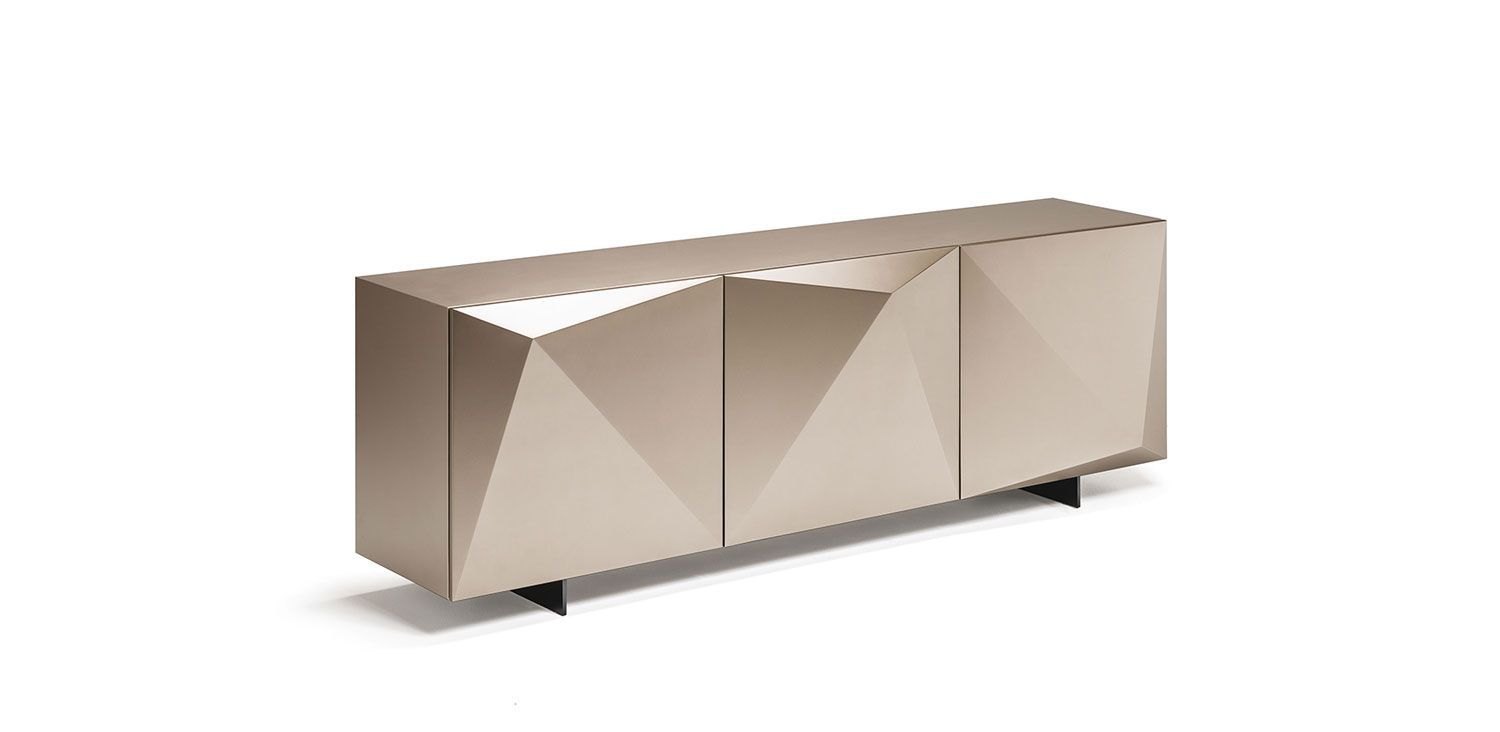 Kayak | Sideboards – Sideboard 2 Or 3 Doors In Polished In 3 Drawer Titanium Buffets (View 9 of 30)